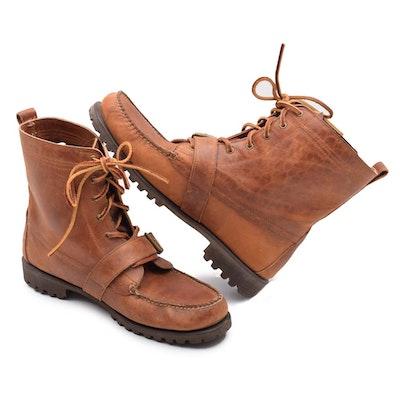 a1819bd4a1df Men s Polo Ralph Lauren Brown Leather Lace-Up Boots