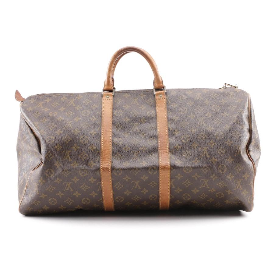 f27544f610ef 1988 Vintage Louis Vuitton Monogram Canvas Carryall Weekender Bag   EBTH