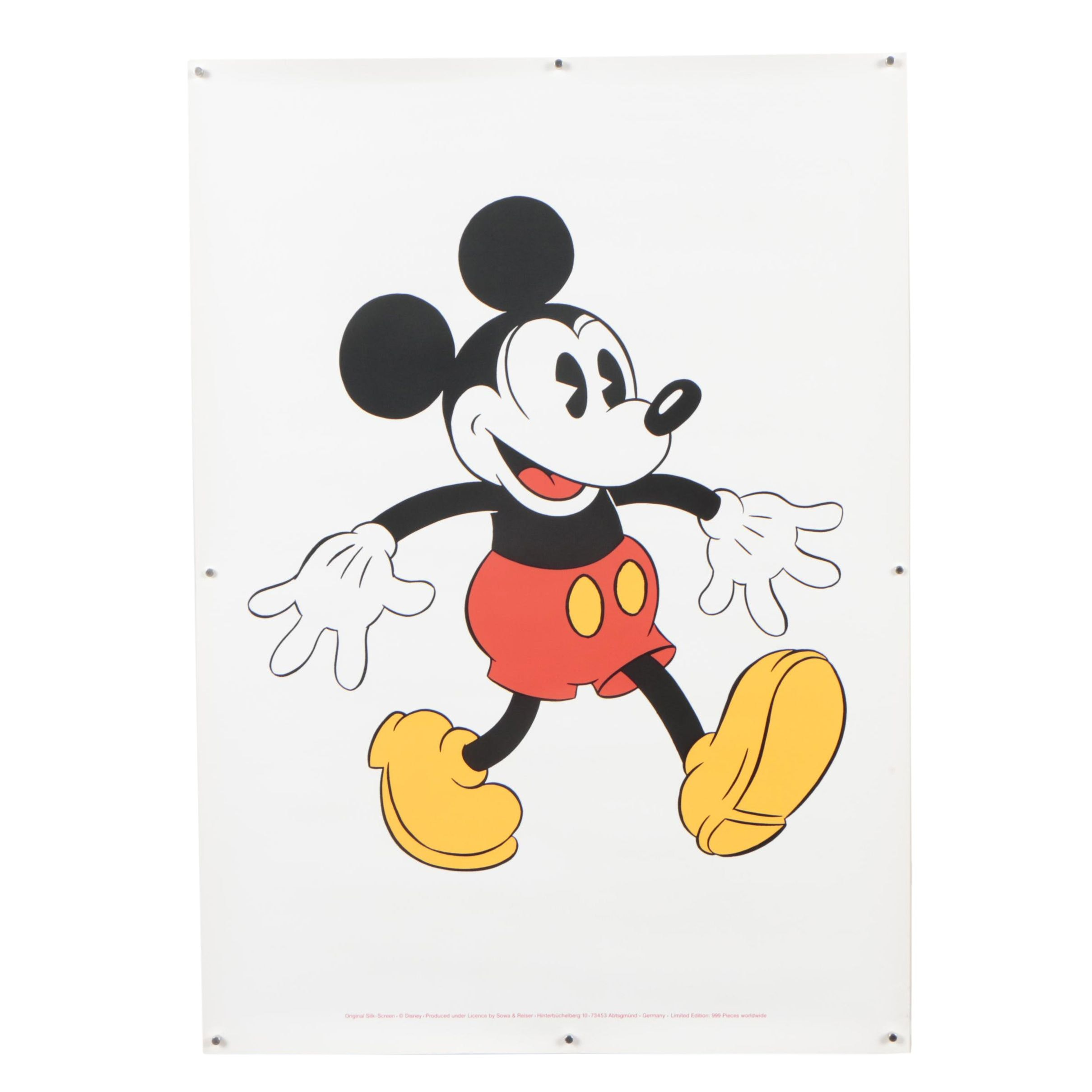 Sowa and Reiser Serigraph of Mickey Mouse