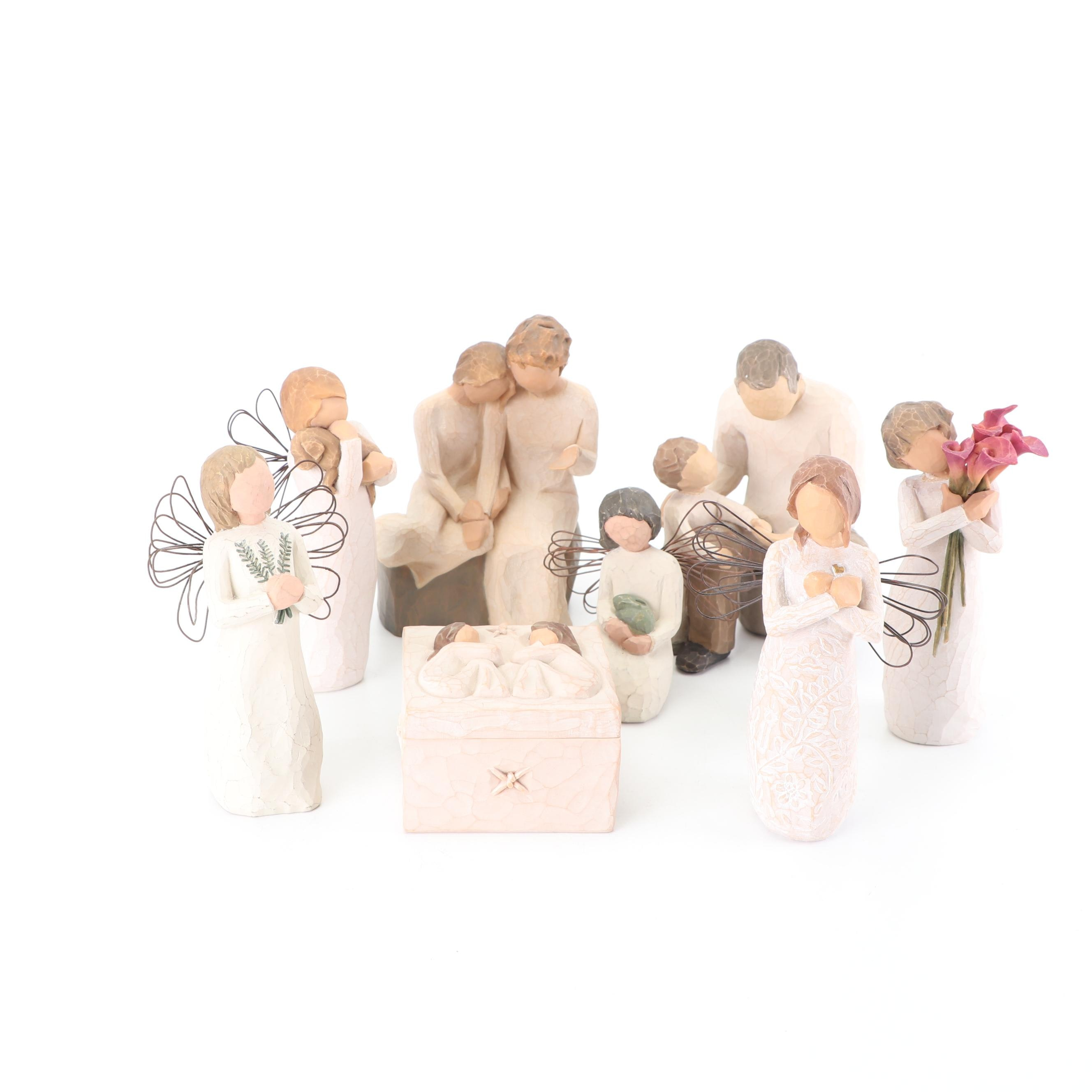 "Willow Tree Resin Figurines featuring ""Angel of Remembrance"""