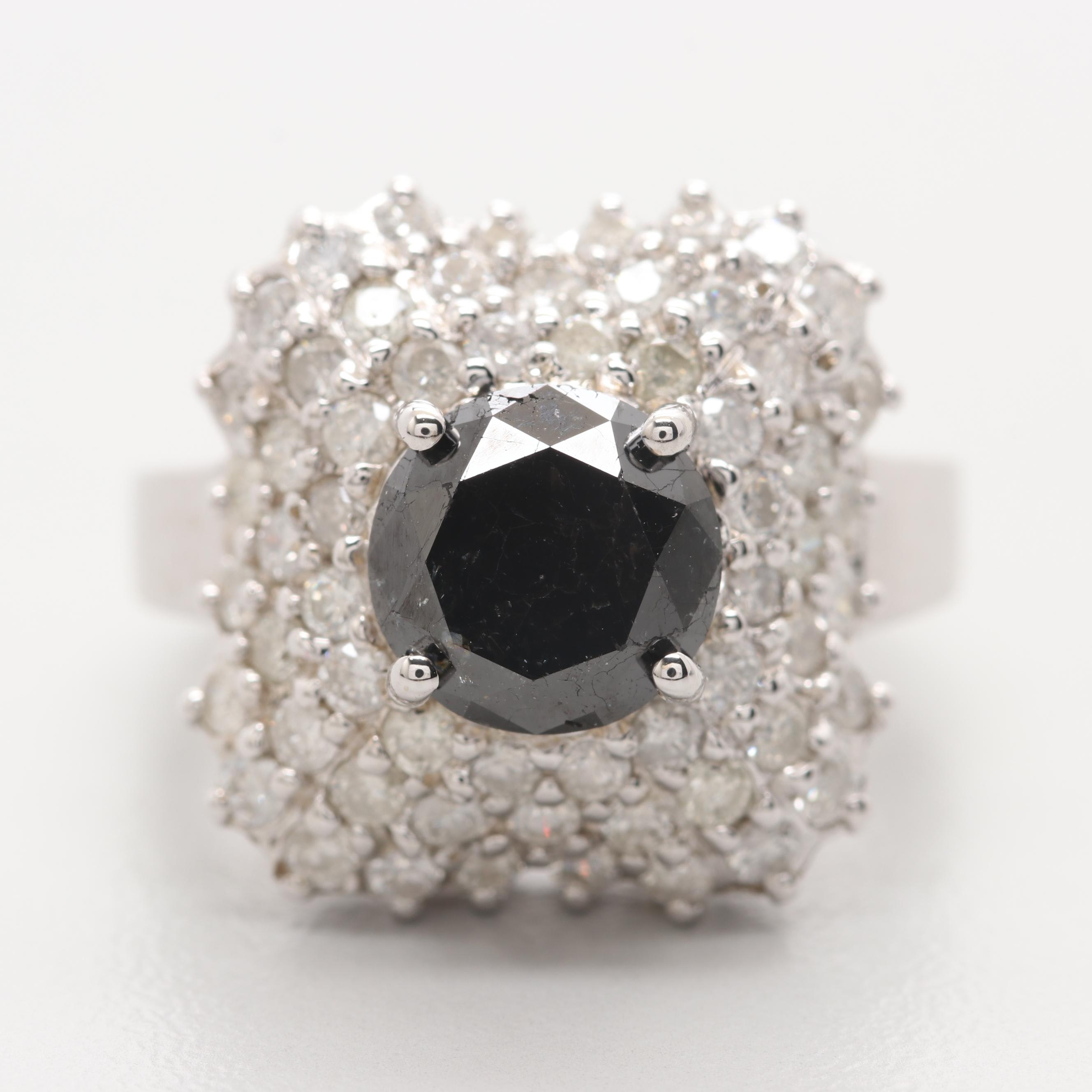 14K White Gold 3.77 CTW Diamond Ring