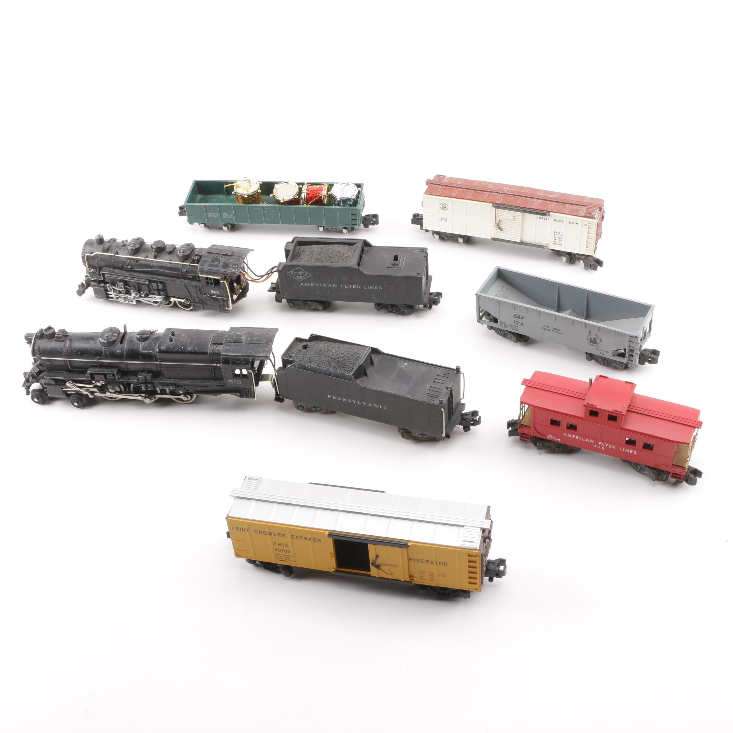 American Flyer S-Scale Train Cars and Locomotives