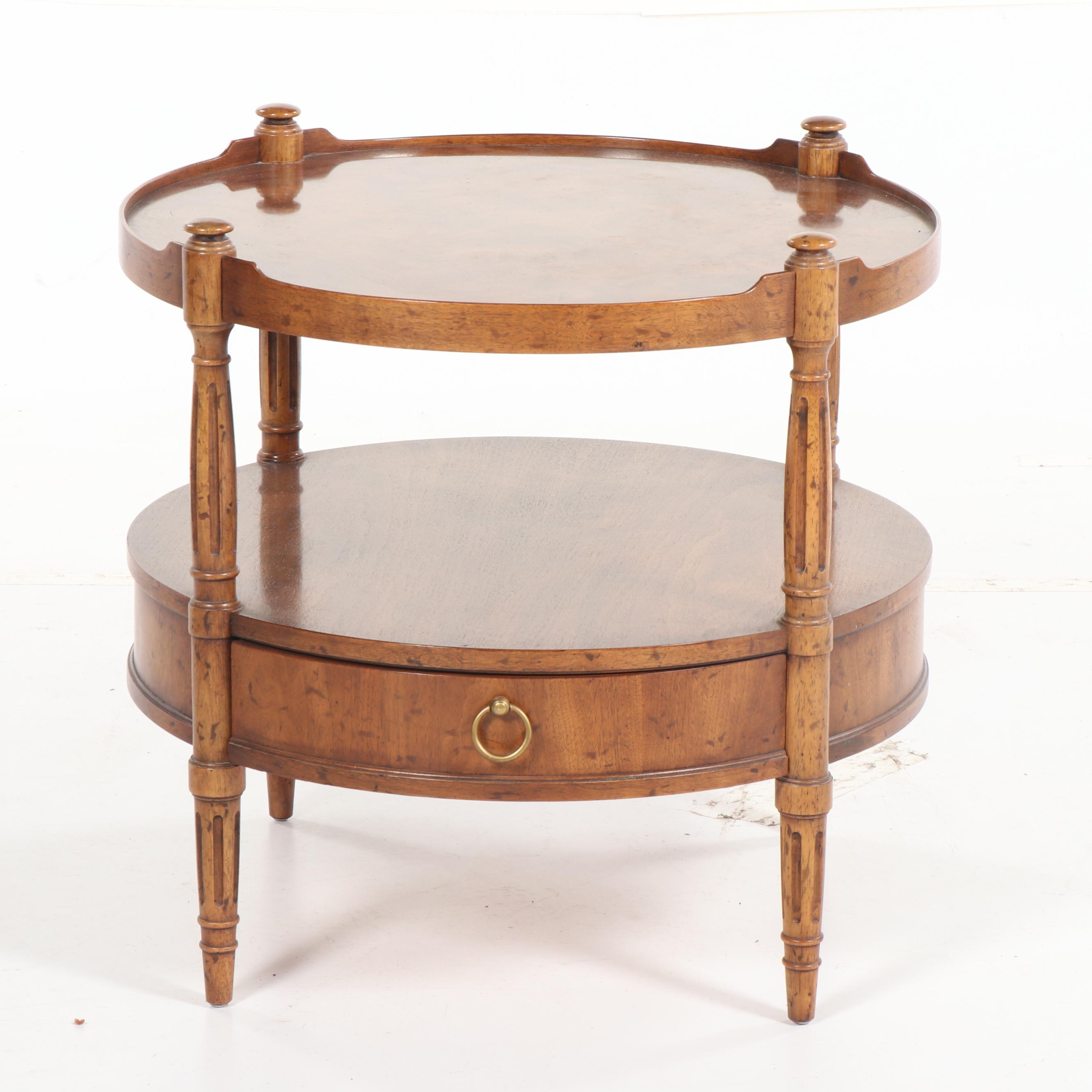 Burl Wood Occasional Table by Heritage, Late 20th Century