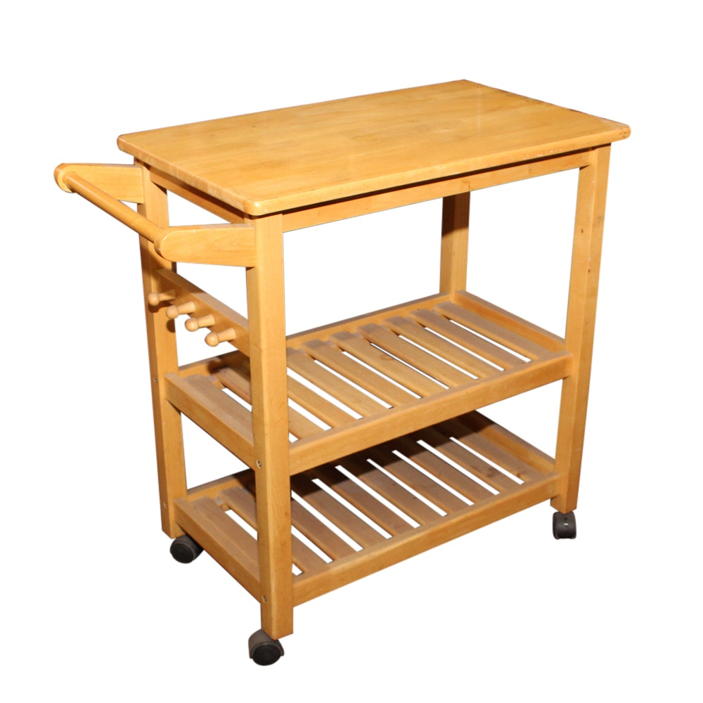 Contemporary Wood Kitchen Cart