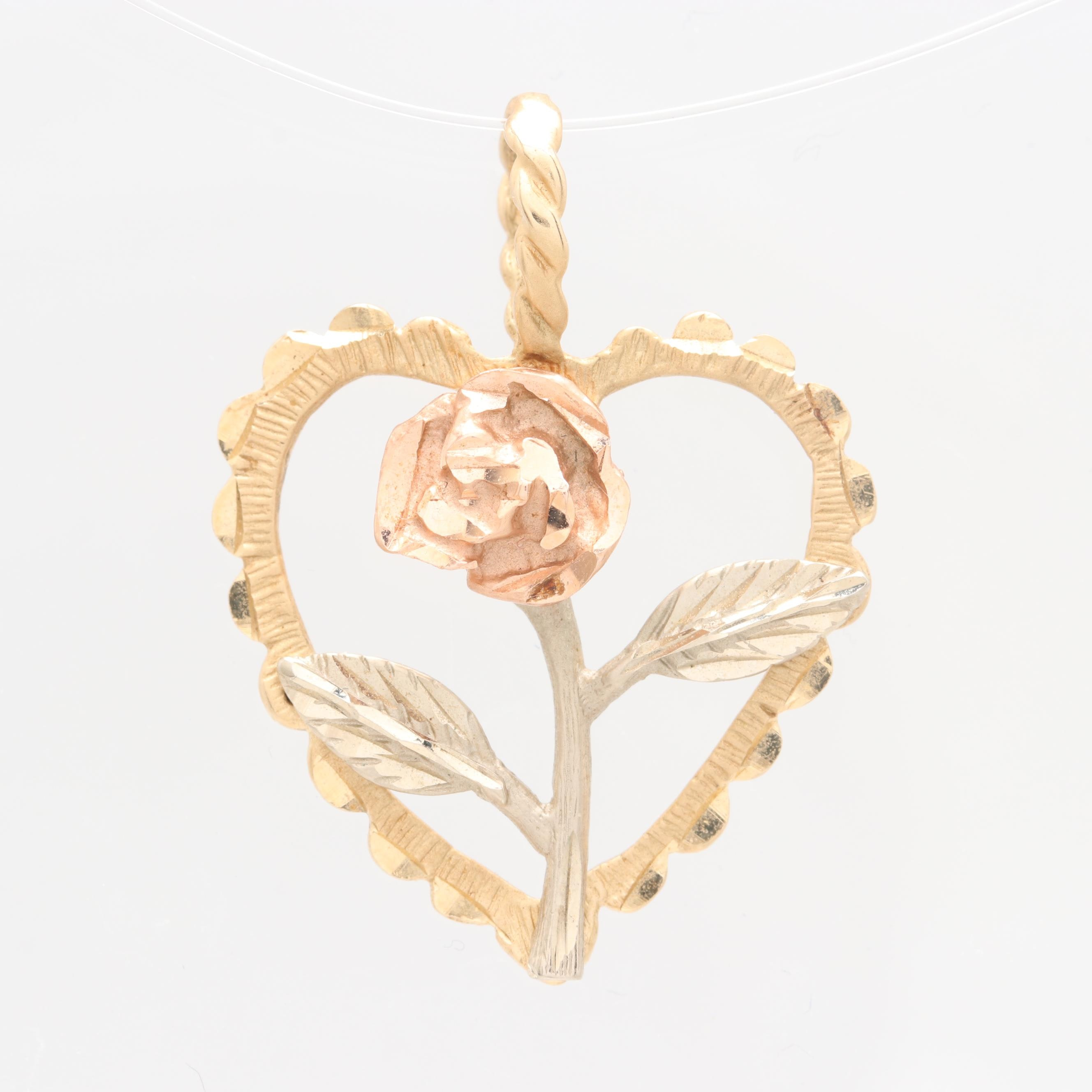 Michael Anthony 14K Yellow, Rose and Green Gold Pendant