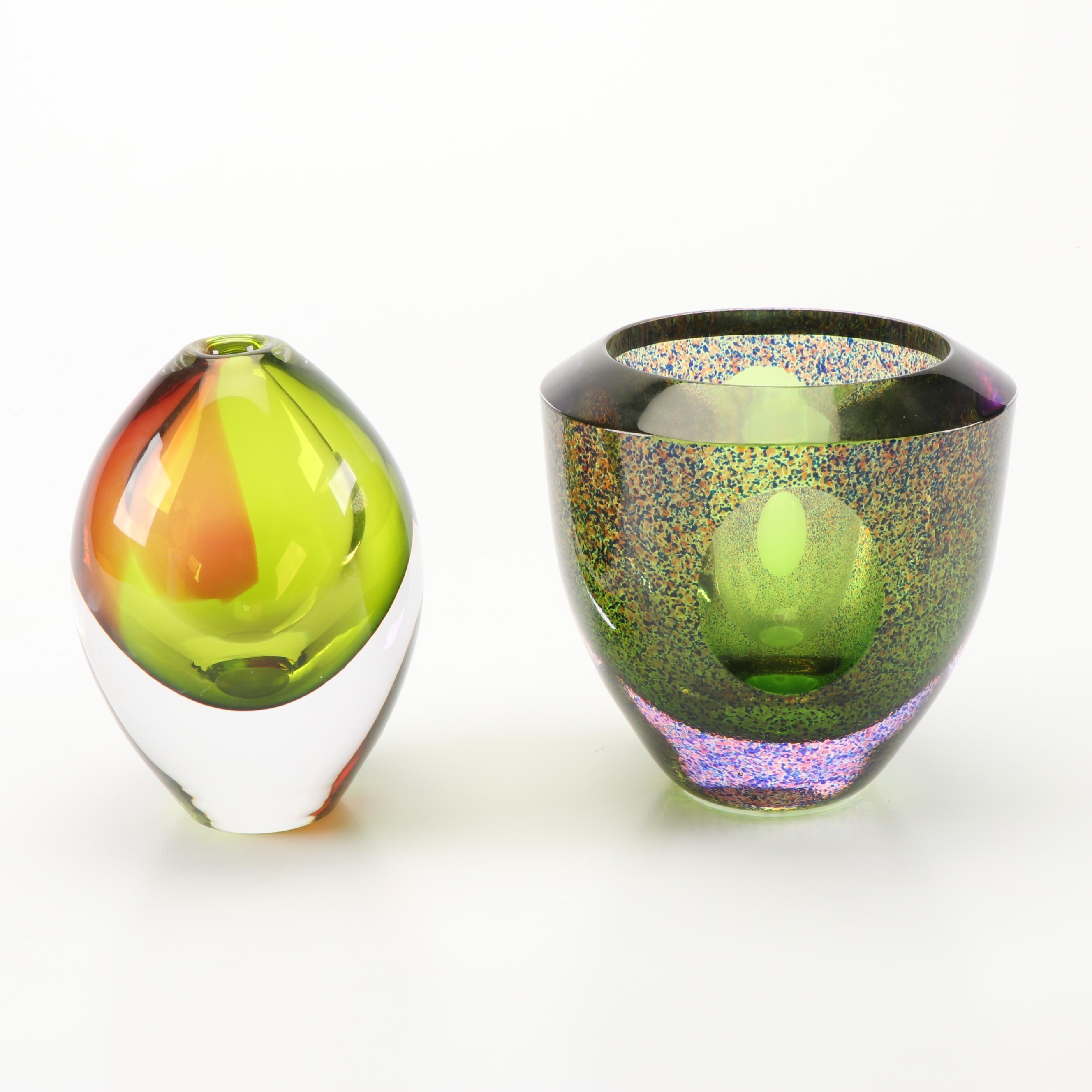 Orrefors Decorative Crystal Vases