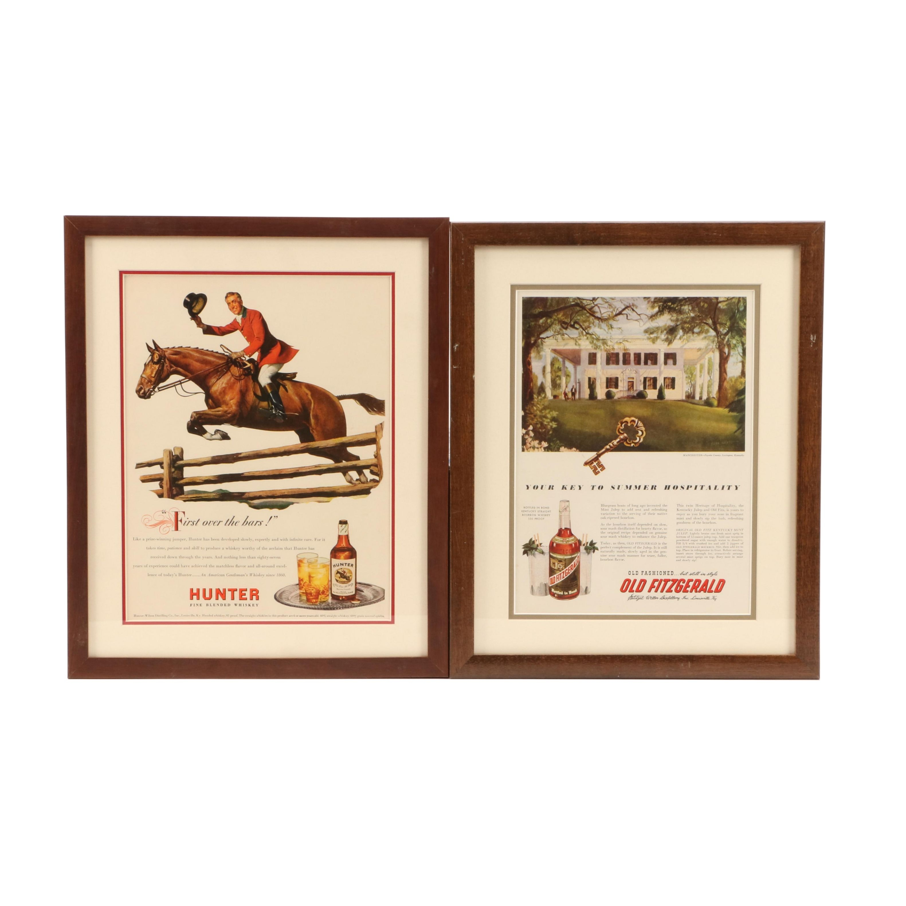 Vintage Life and Time Magazine Ads for Bourbon