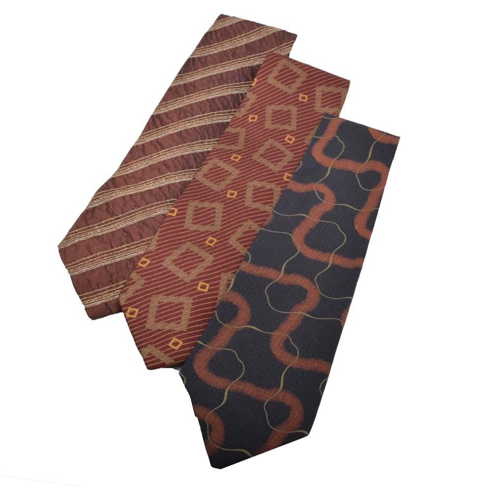 Men's Giorgio Armani Cravatte Silk Neckties, Made in Italy
