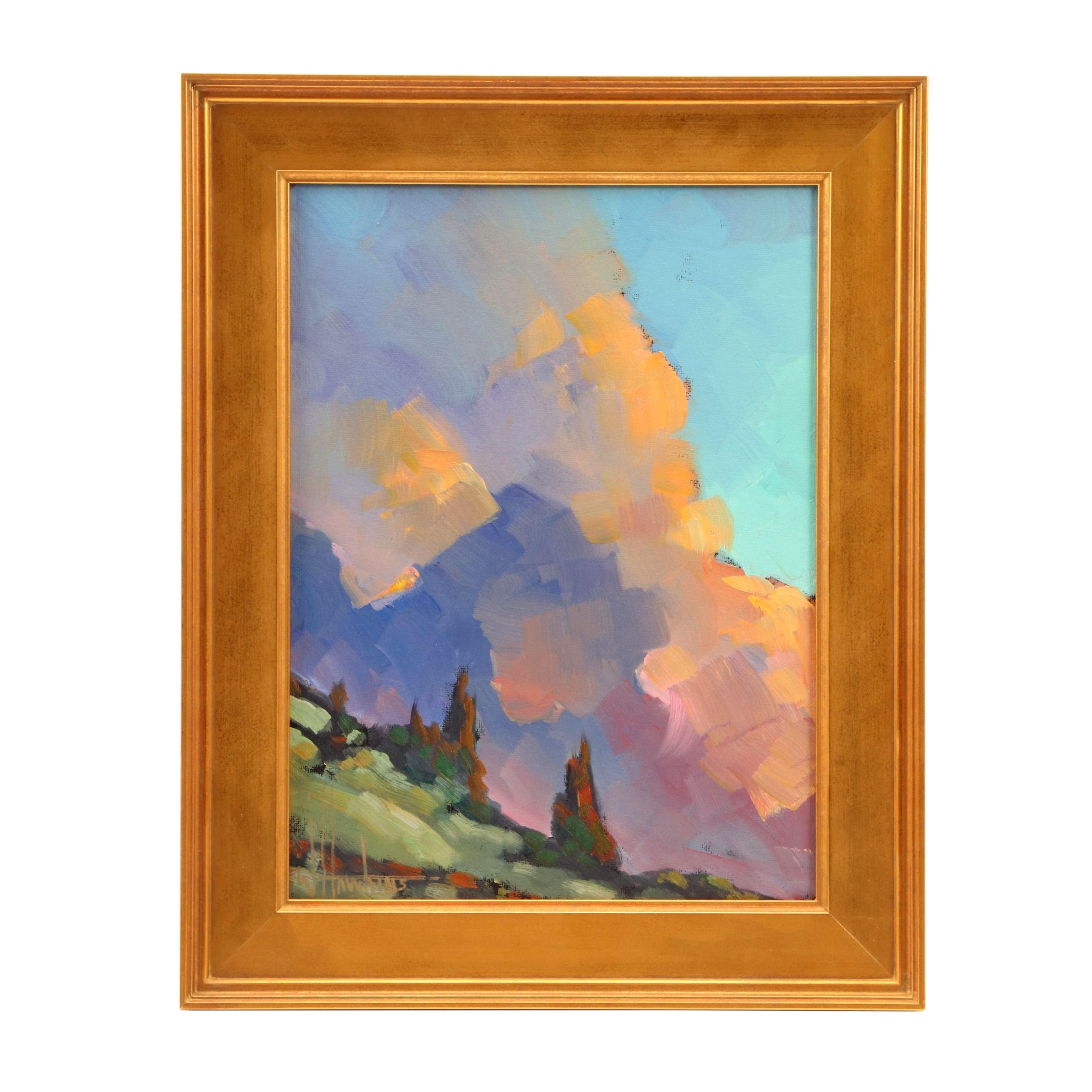 William Hawkins Oil Landscape Painting
