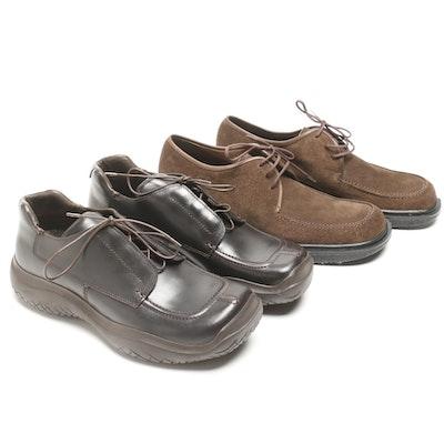 6f83d6732716 Men s Prada Leather and Salvatore Ferragamo Suede Shoes