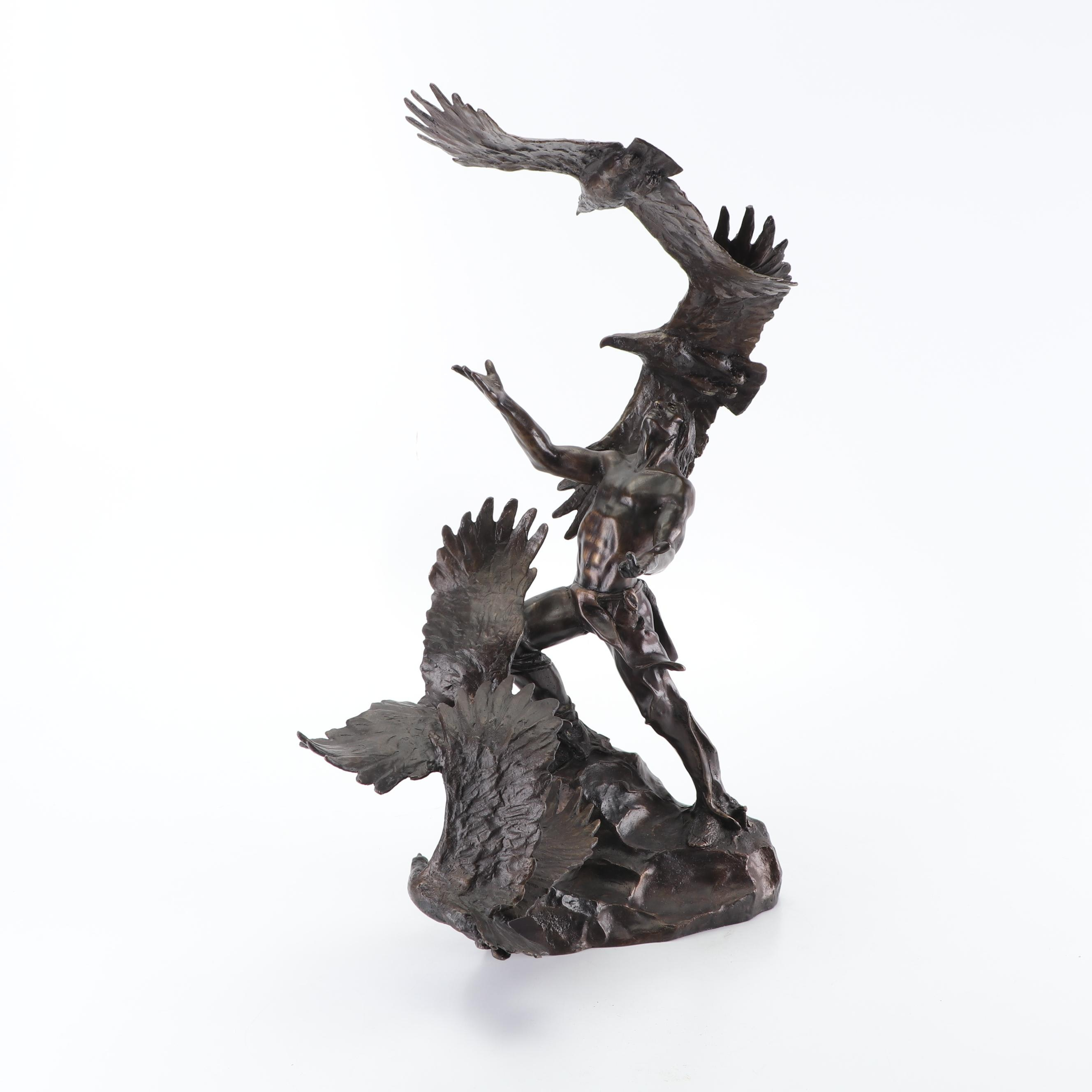 "Buck McCain Bronze Sculpture ""The Soaring Spirits"""