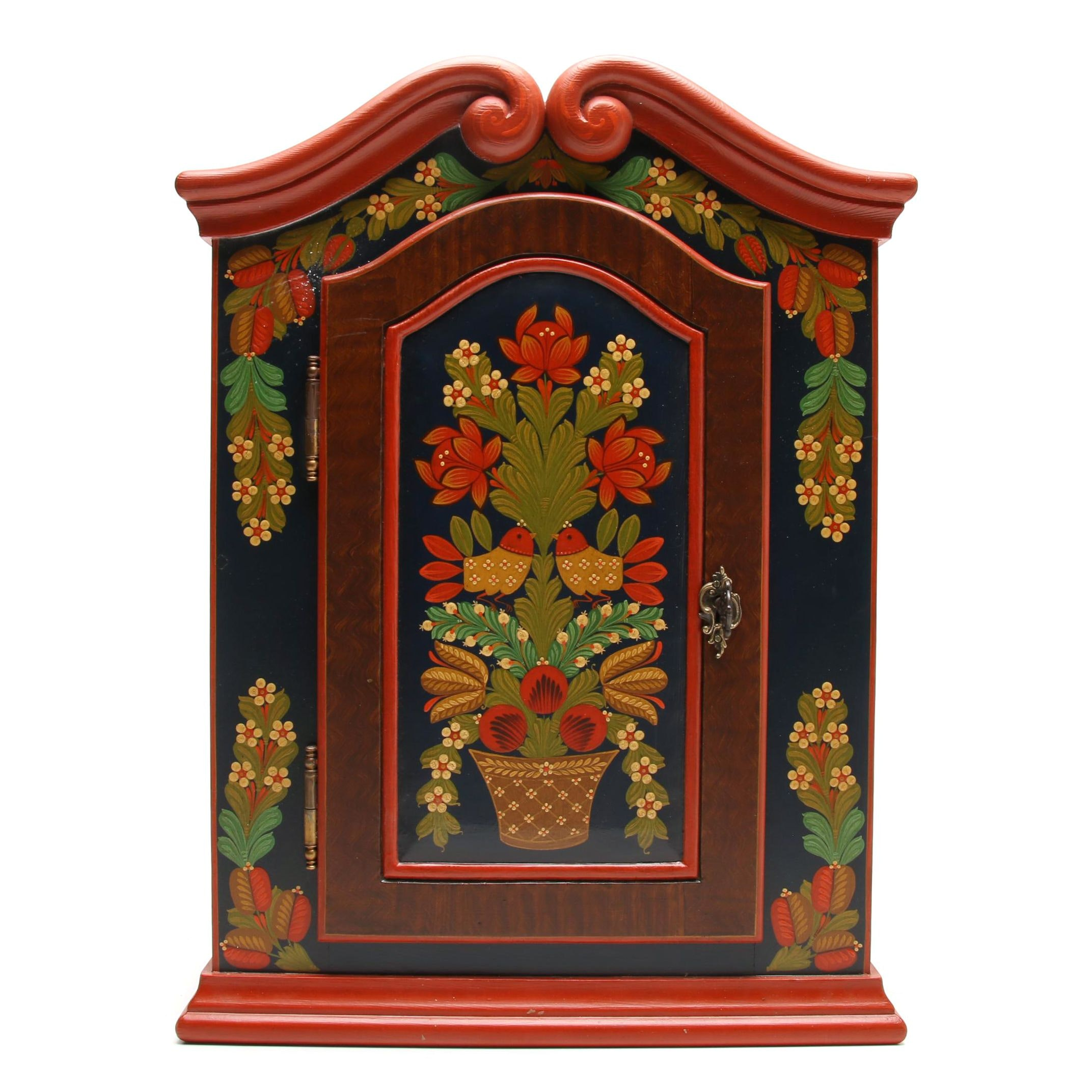 Hand-Painted European Storage Hutch