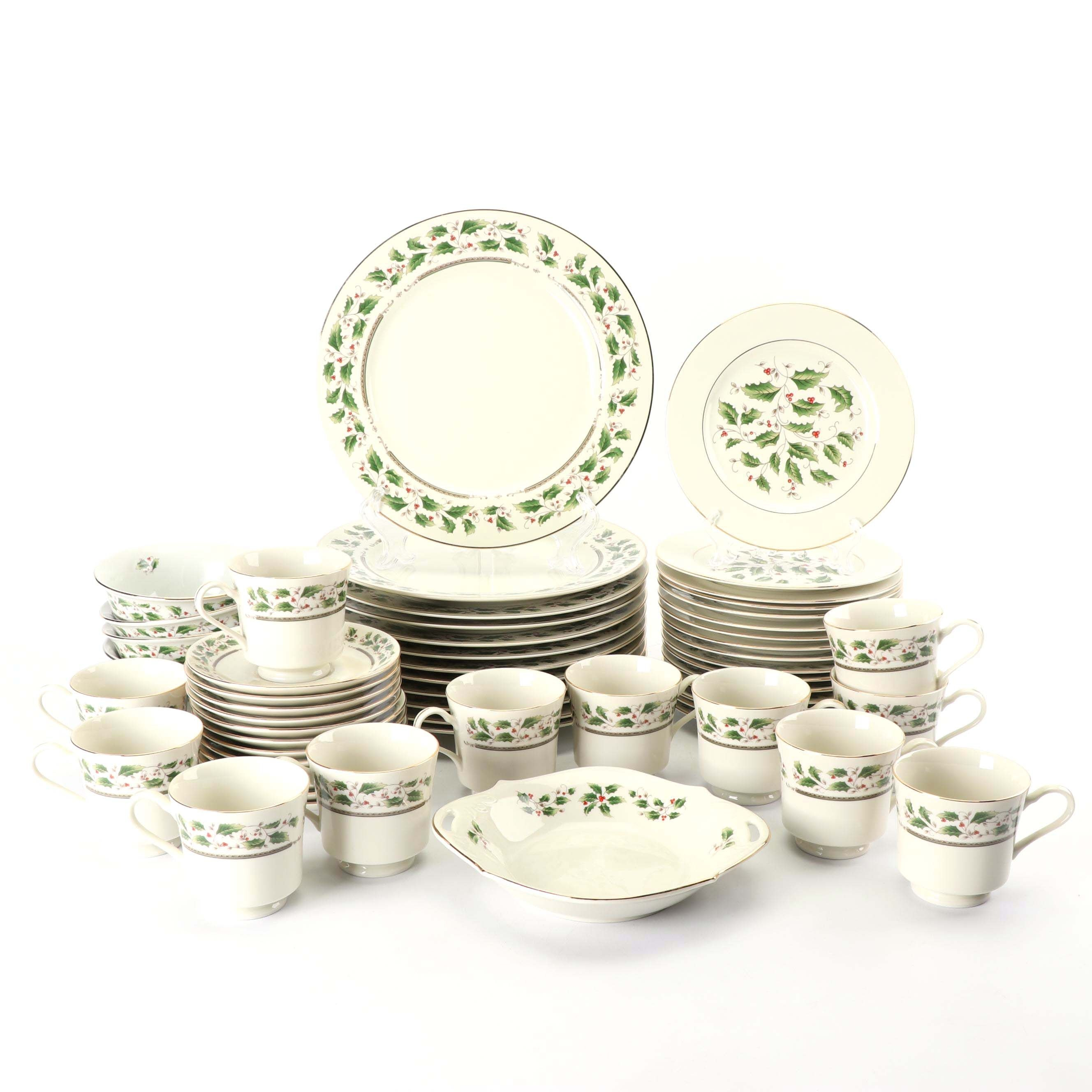 "Royal Limited ""Holly Holiday"" Porcelain Dinnerware"