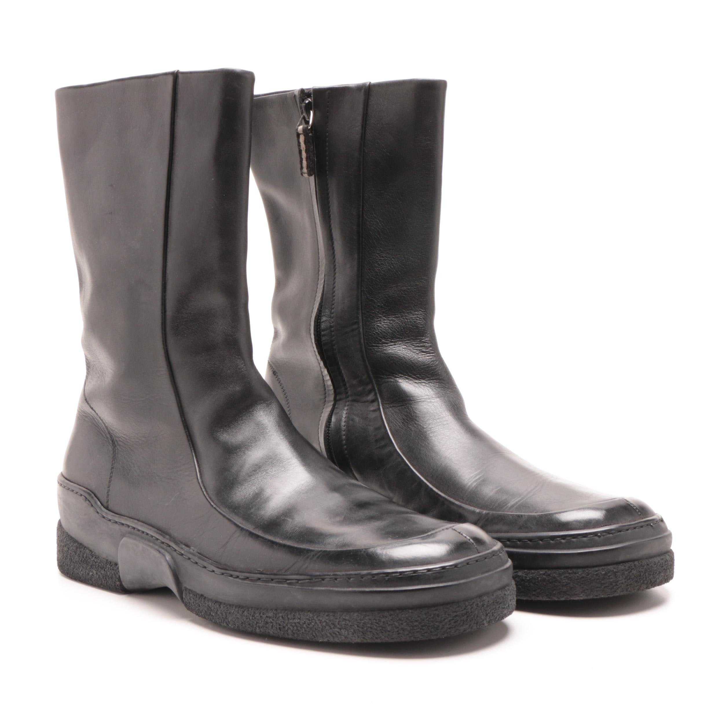 Men's Gucci Black Leather Boots