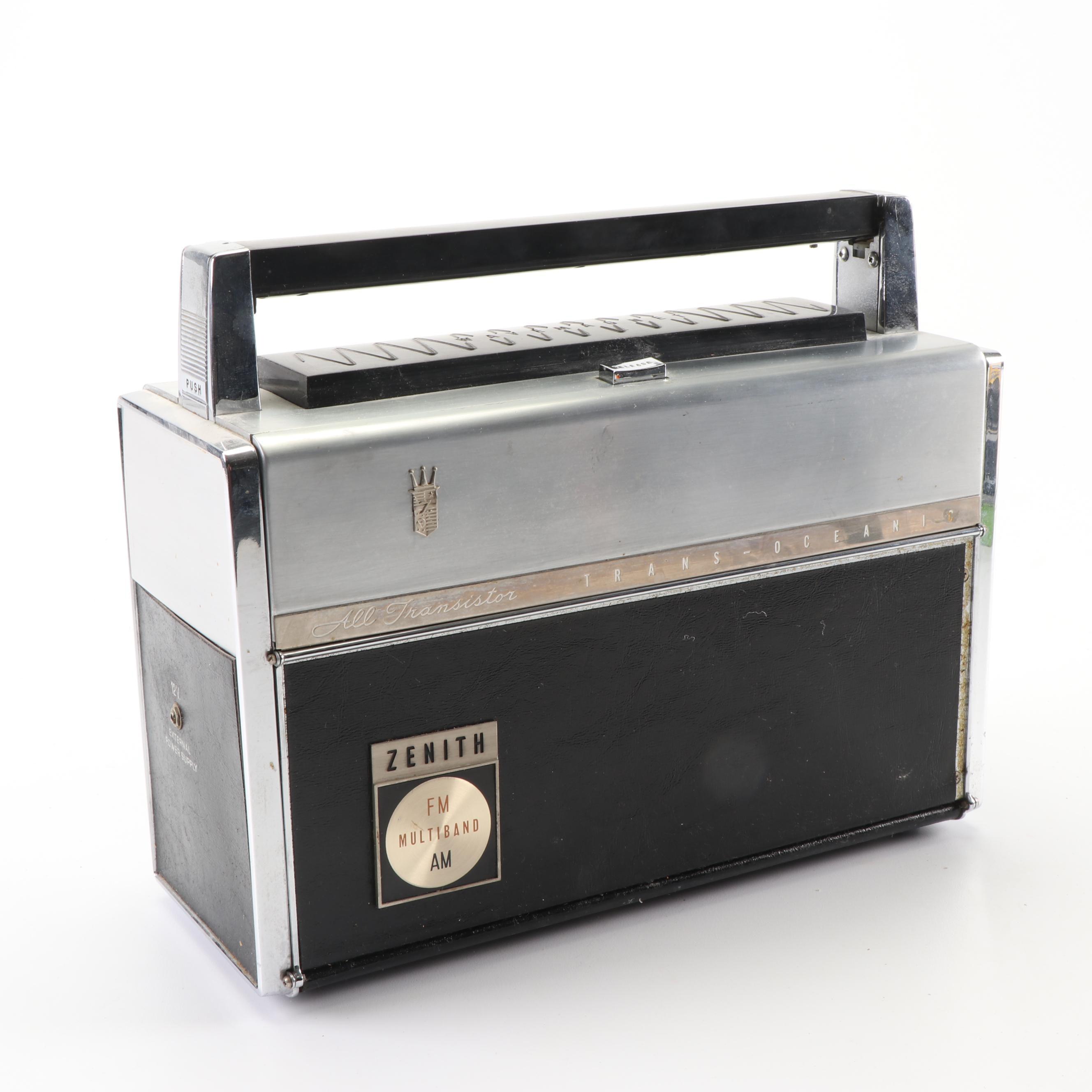 "Zenith Trans-Oceanic Multiband ""Royal"" Transistor Radio"