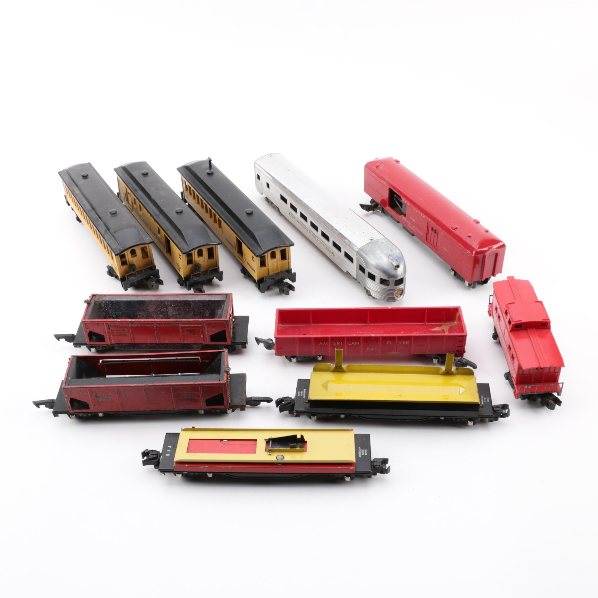 American Flyer S-Scale Passenger and Freight Train Cars