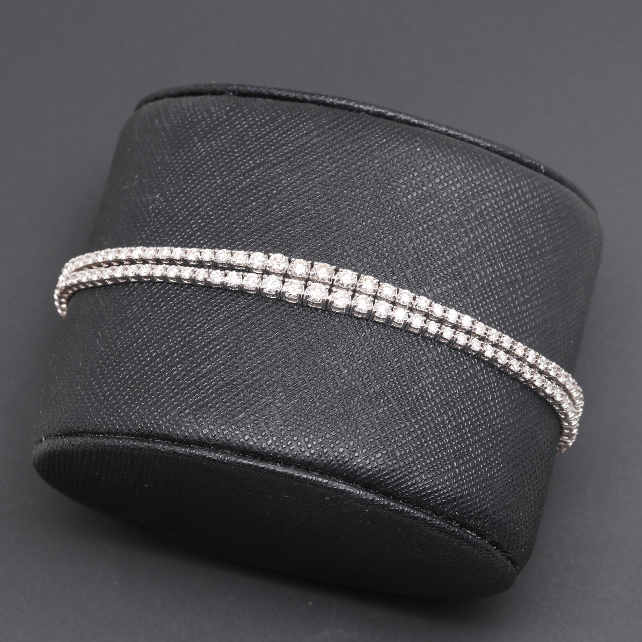 18K White Gold 4.55 CTW Diamond Bracelet