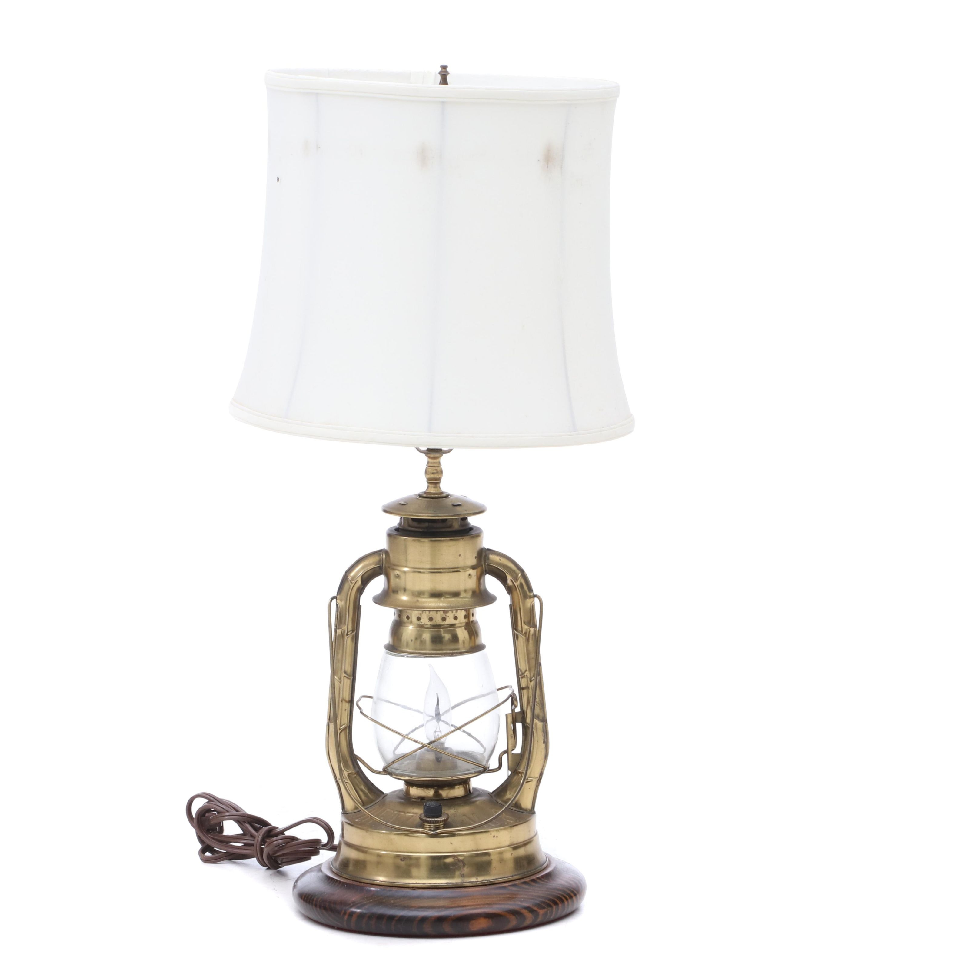 "Converted Dietz ""Air Pilot"" Lantern Table Lamp"