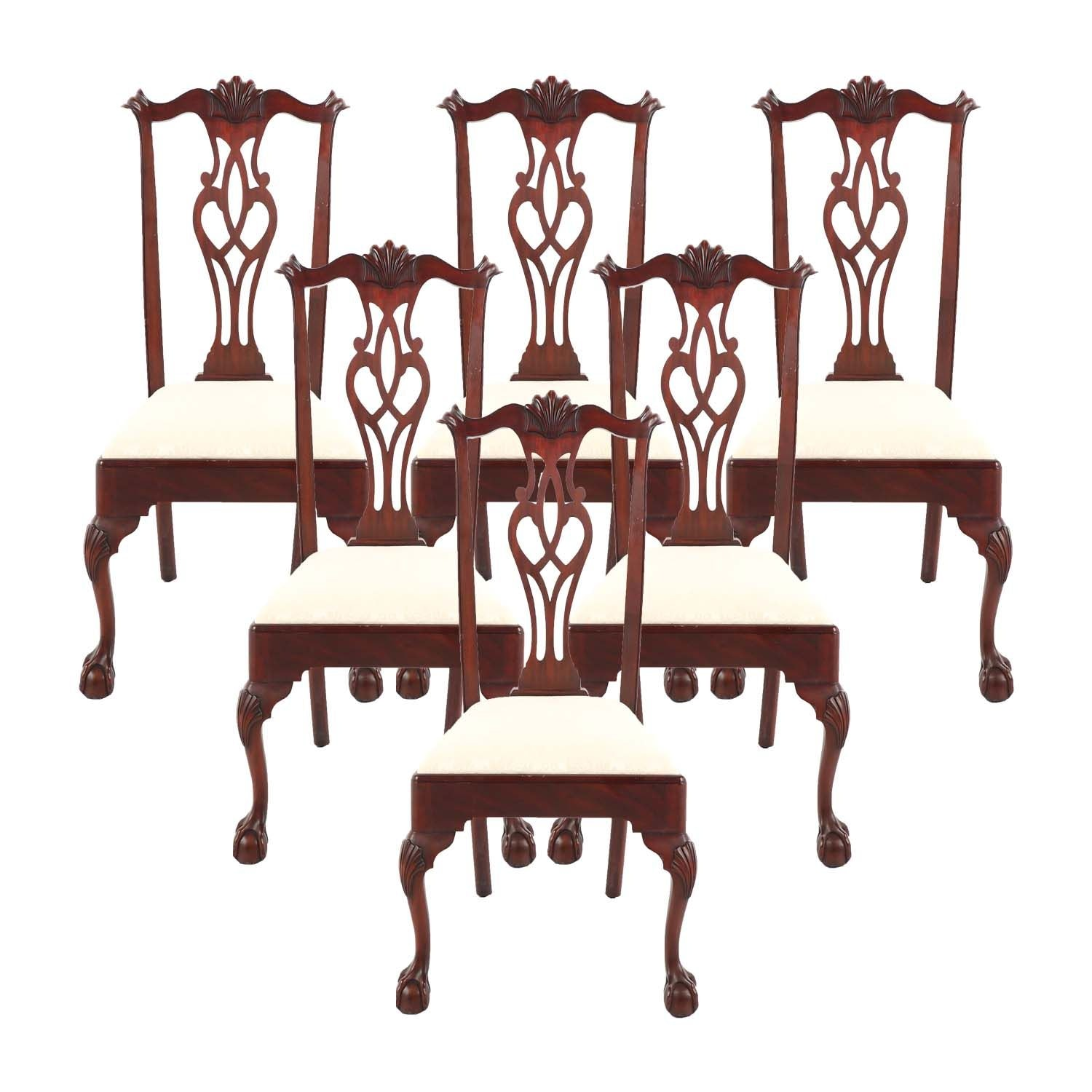 Federal Style Mahogany Dining Chairs by Henkel-Harris, Late 20th Century