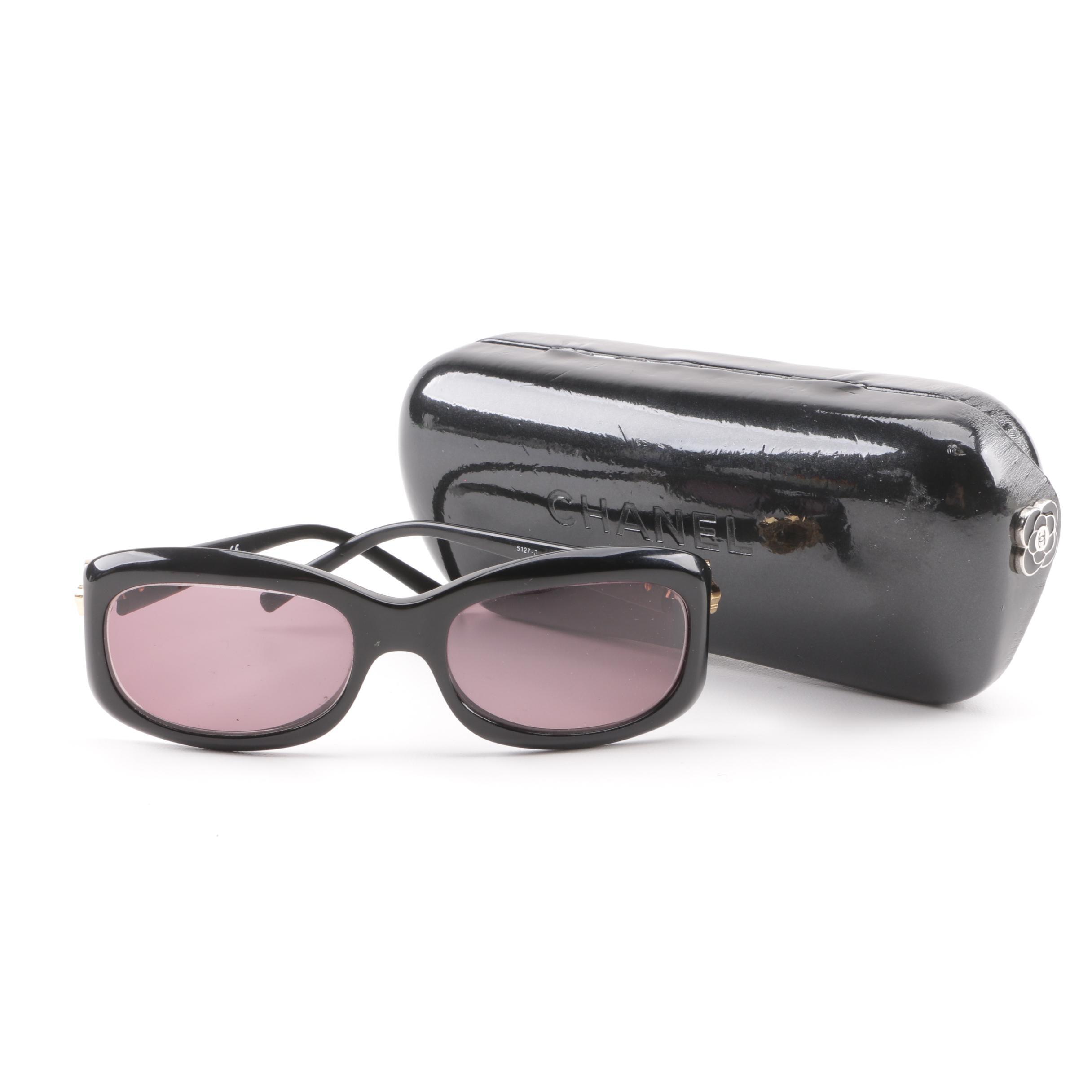 Chanel 5127-B Camellia Flower CC Logo Prescription Sunglasses with Case