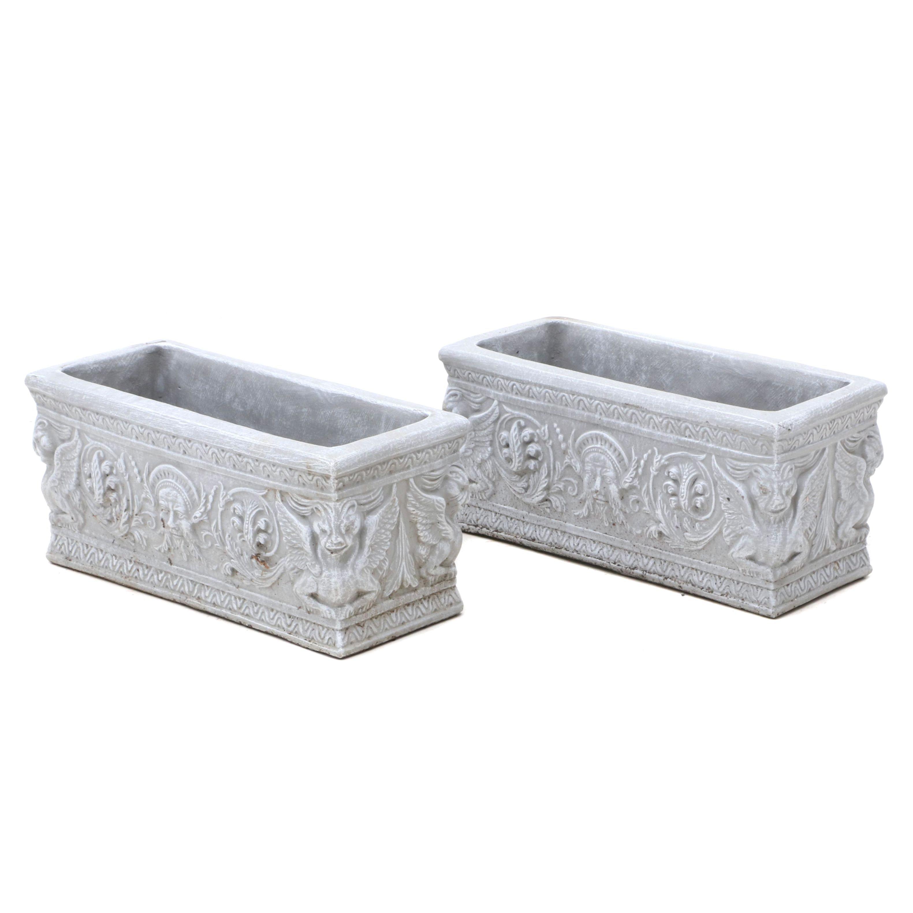 Decorative Concrete Box Planters