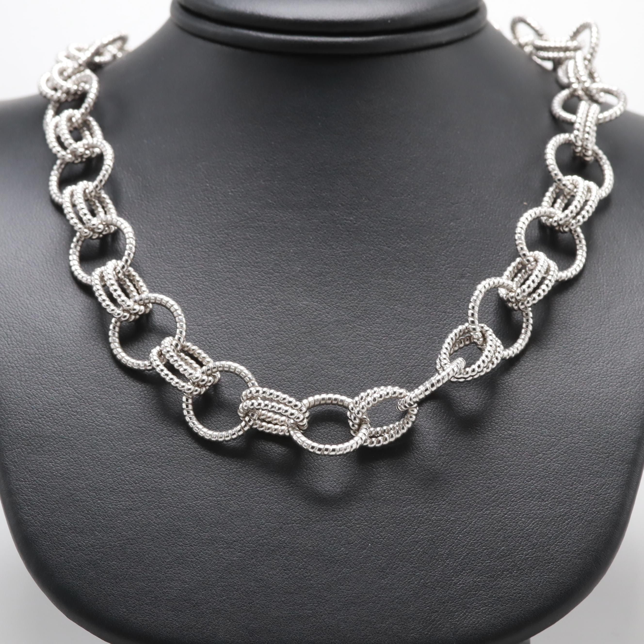Judith Ripka Sterling Silver Black Onyx Necklace