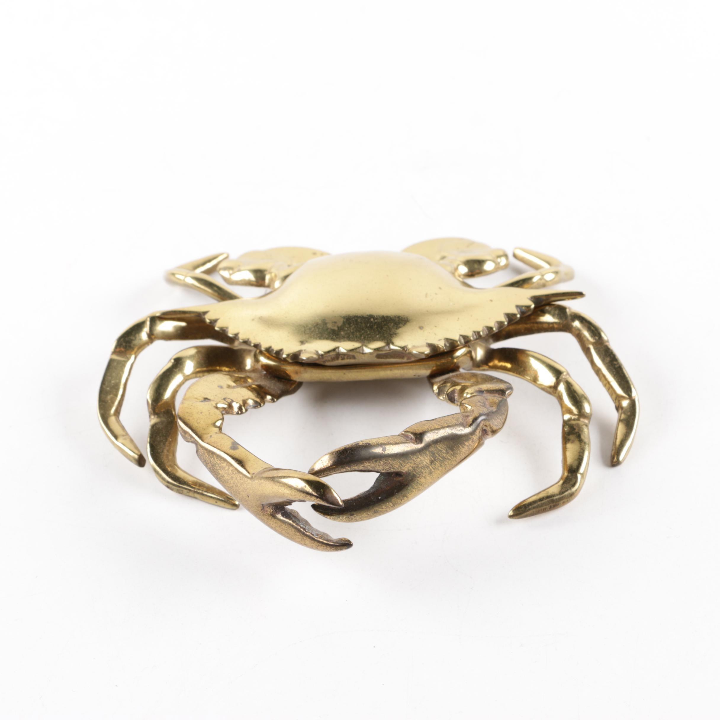 Crab Brass Door Knocker, 21st Century