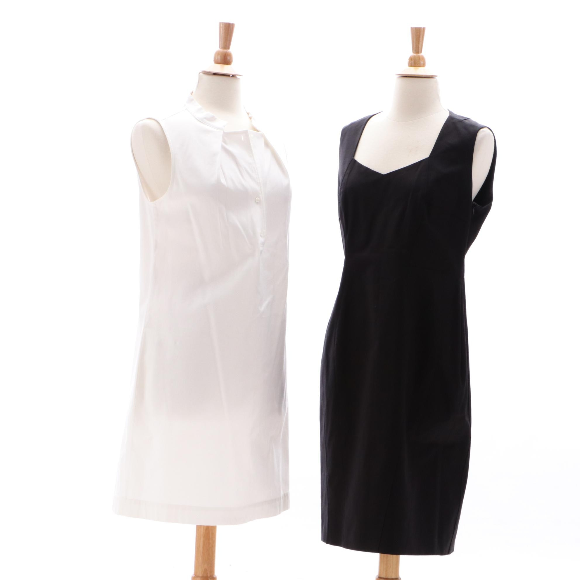 Piazza Sempione Sleeveless Dresses in Black and White