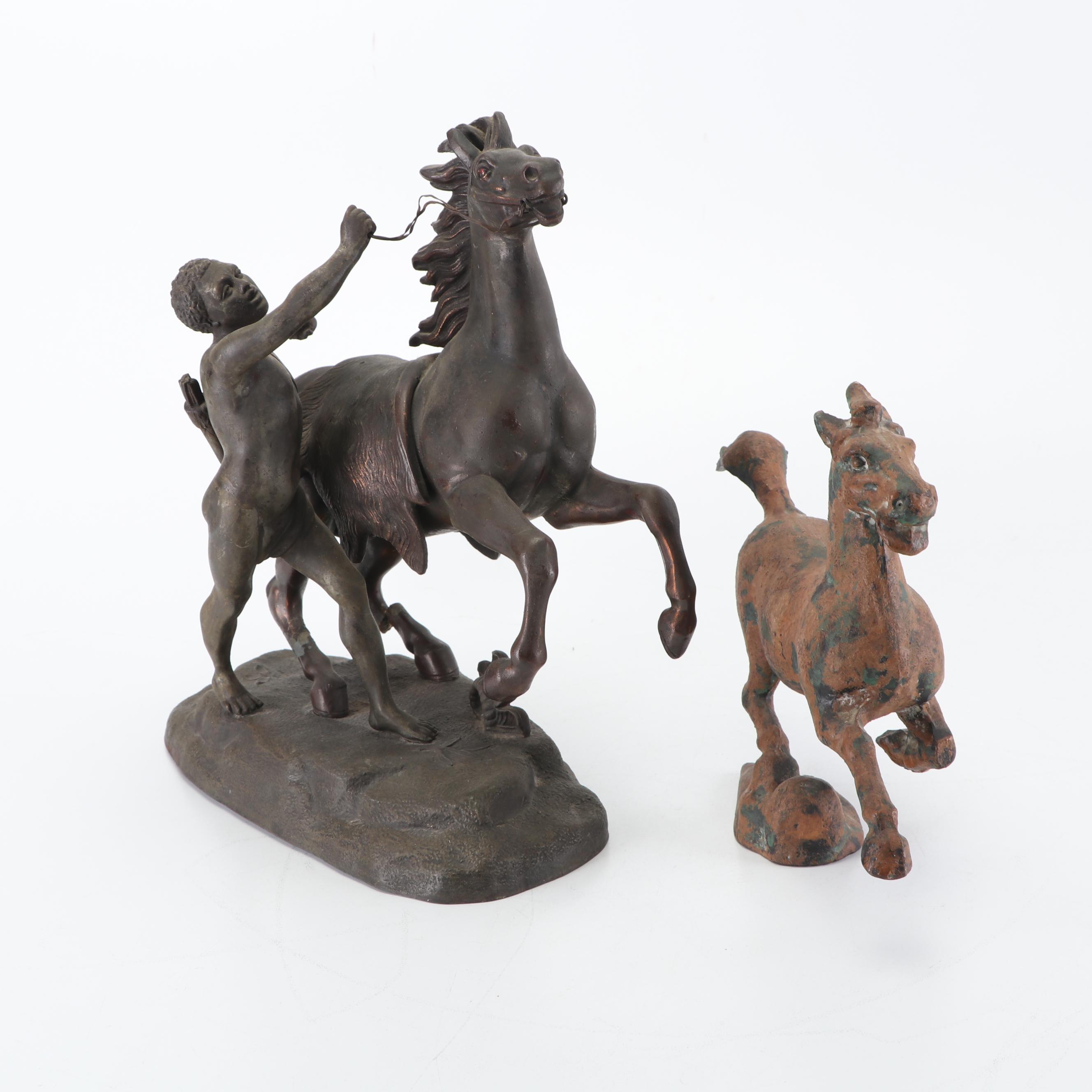 Cast Metal Horse Figurines