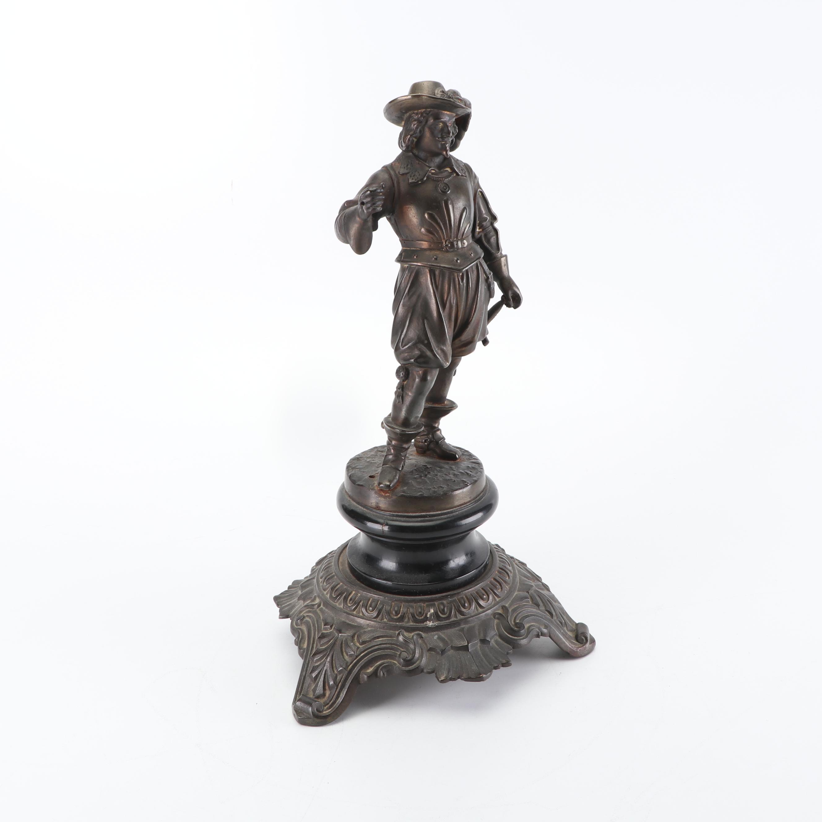 E.G. Zimmermann Cast Metal Knight Figurine