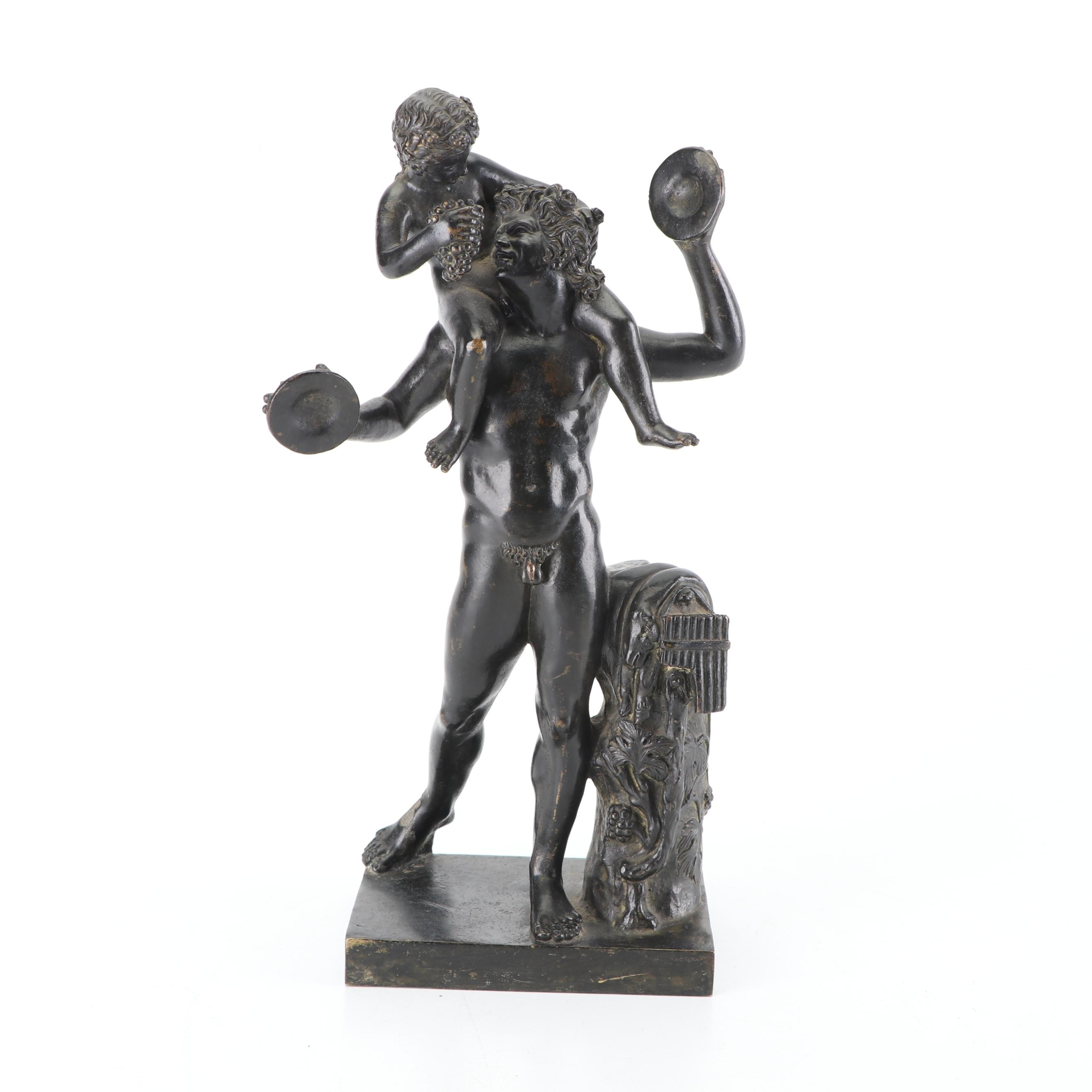 Bronze Sculpture of Pan and Infant Bacchus
