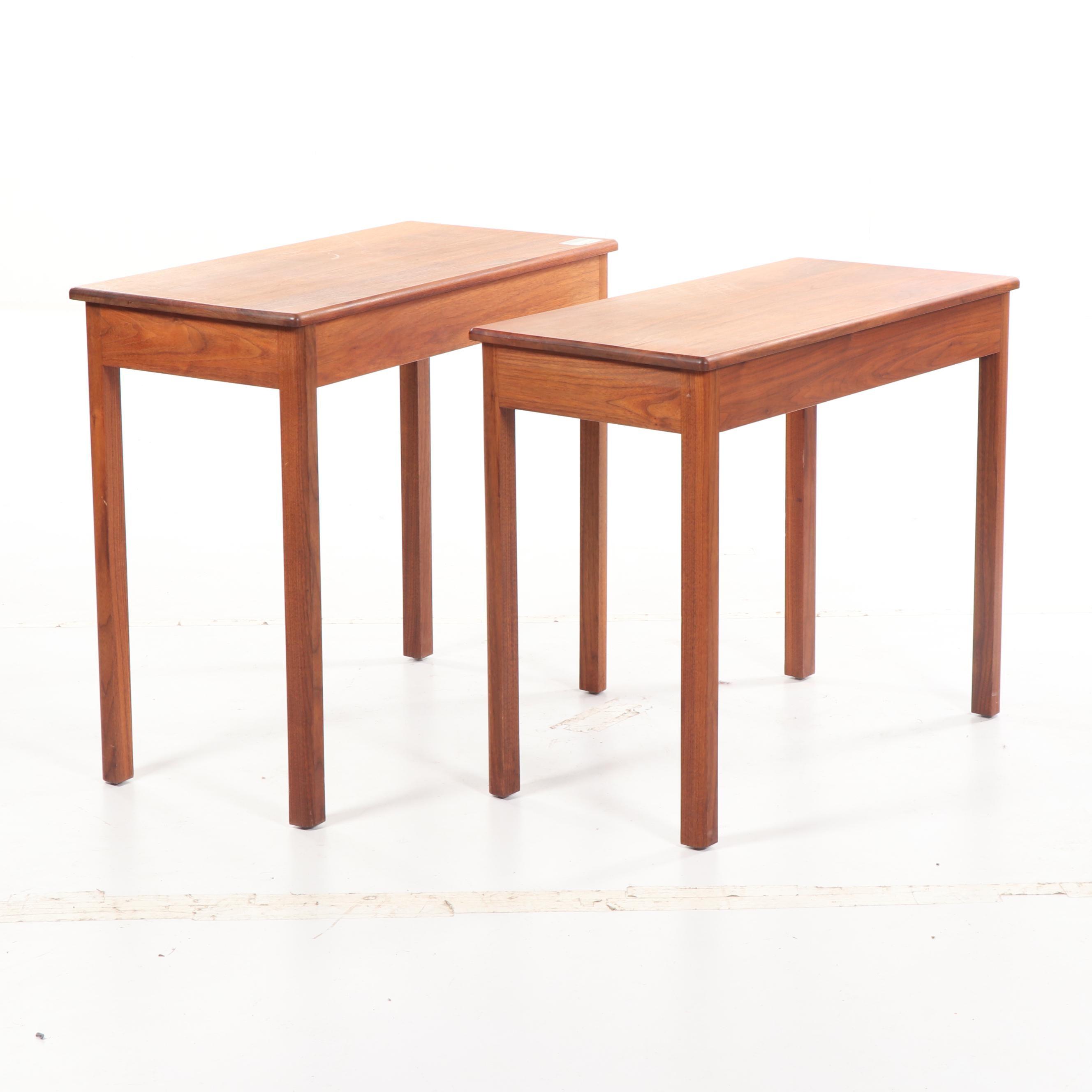 Teak Side Tables, Mid-20th Century