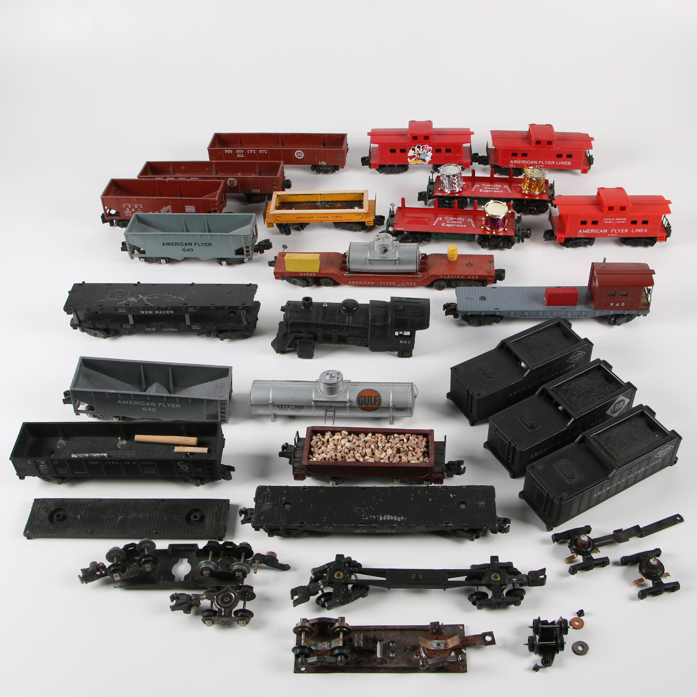 American Flyer S-Scale Train Cars and Parts