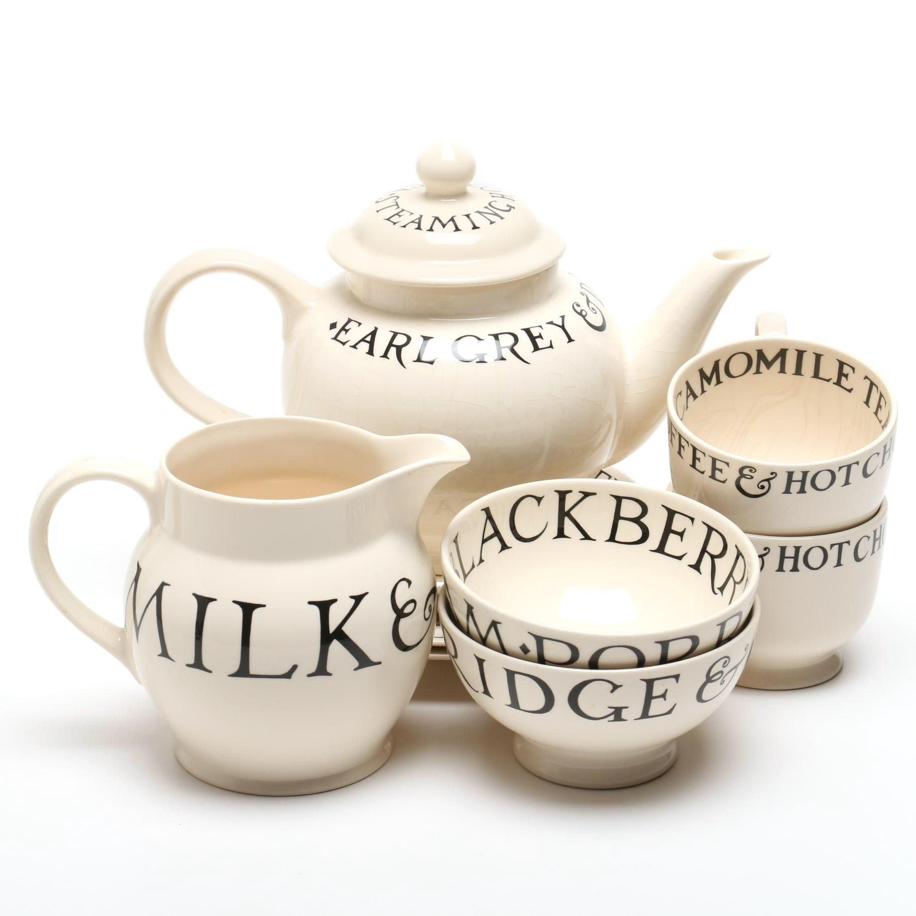 "Emma Bridgewater Pottery ""Toast & Marmalade"" Breakfast Tea Service"