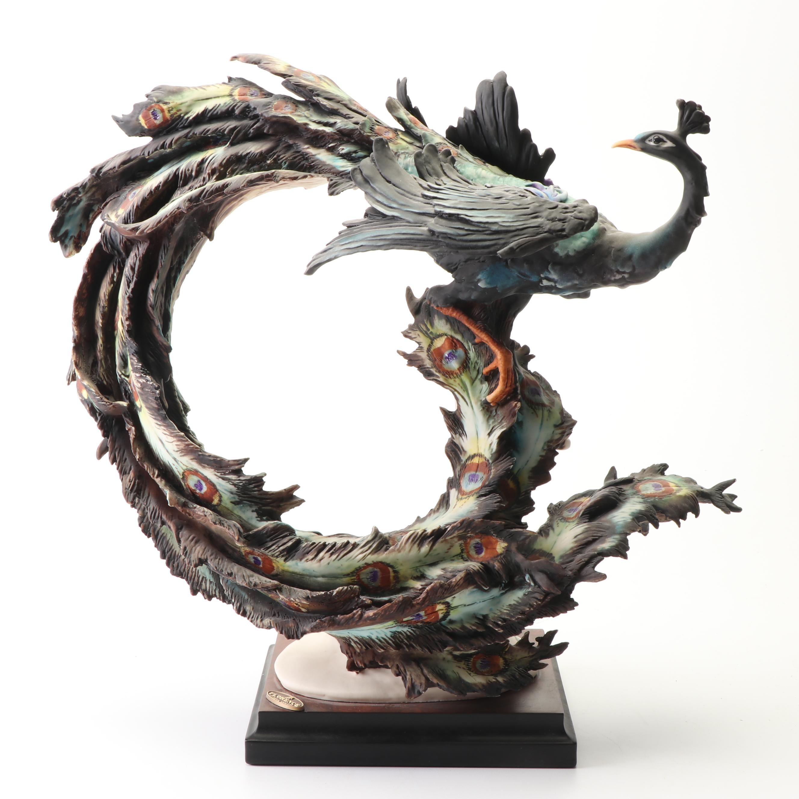 Florence Giuseppe Armani Limited Edition Porcelain Peacock Figurine