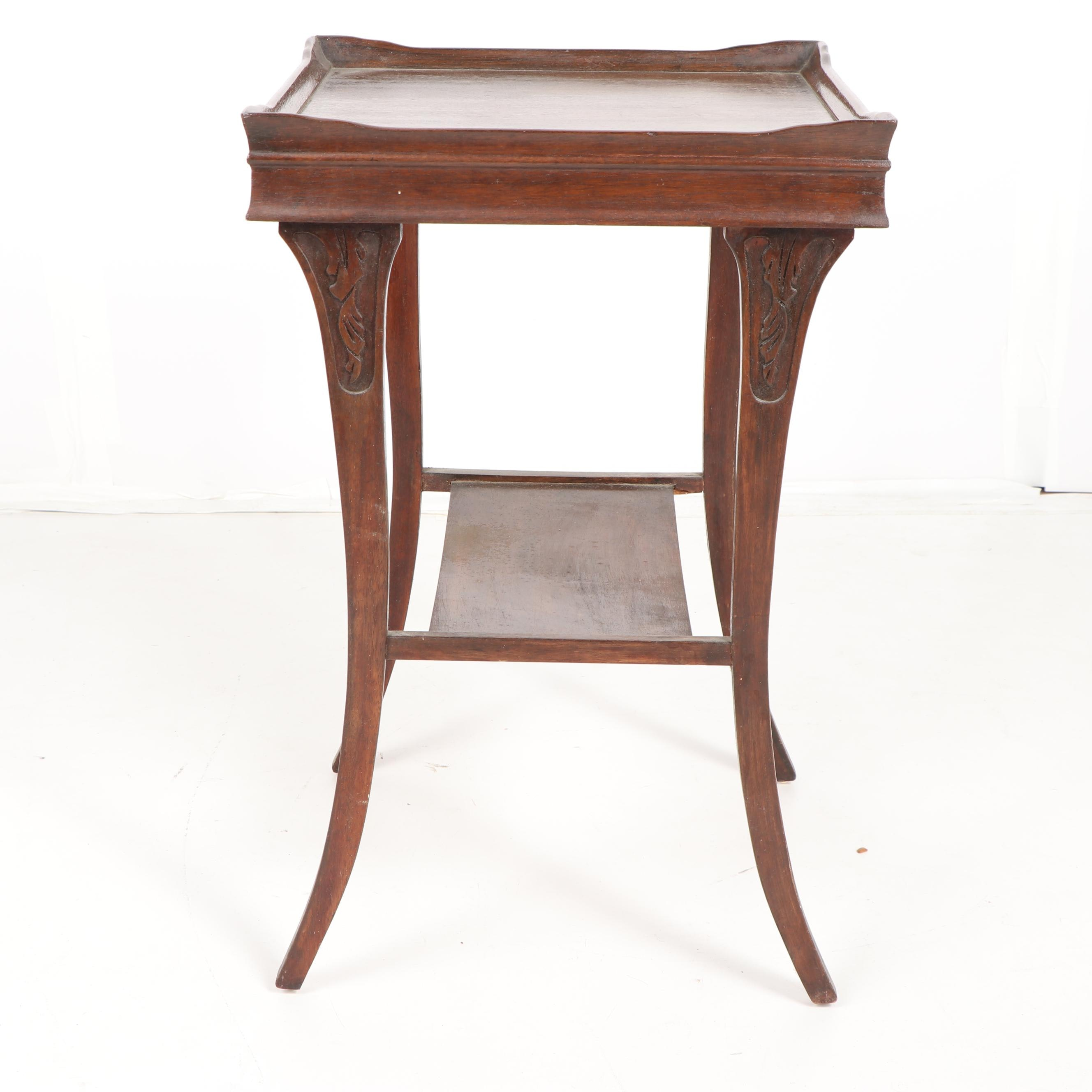 Late Victorian Style Mahogany Side Table, Early/Mid 20th Century