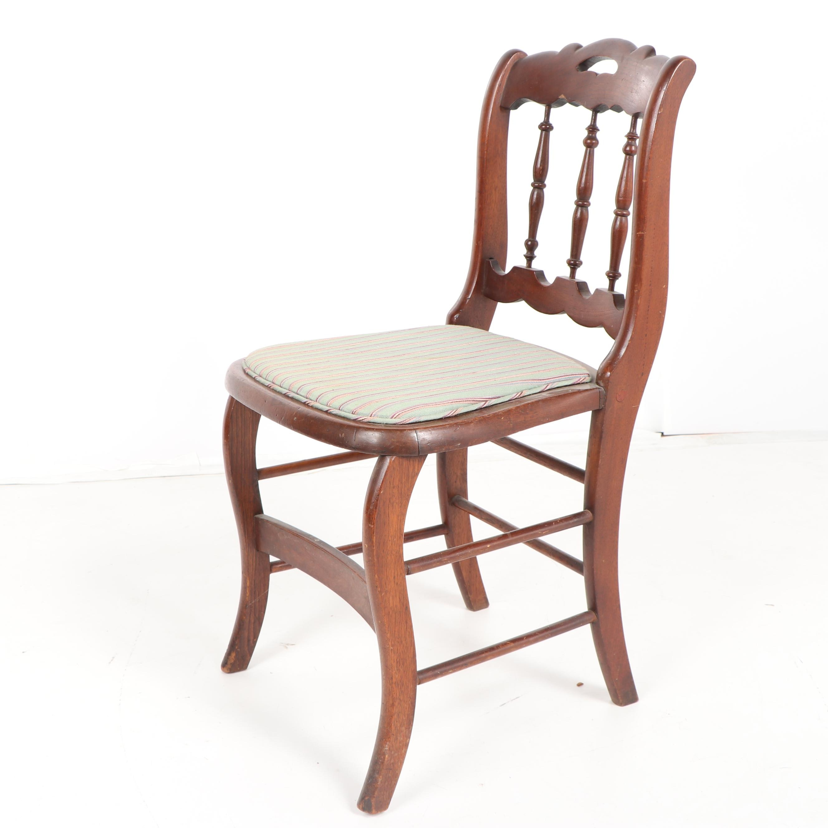 Victorian Mahogany Side Chair, Late 19th Century