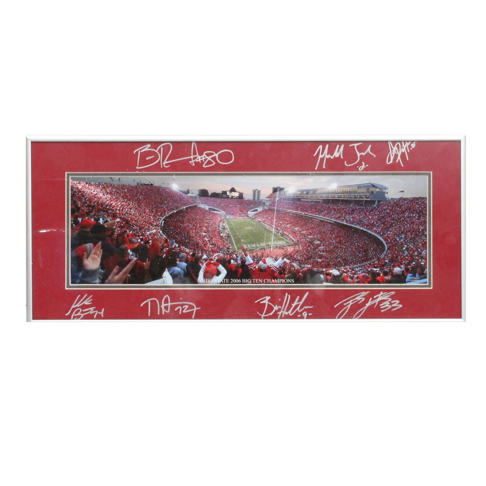 Autographed Ohio State Football Photograph