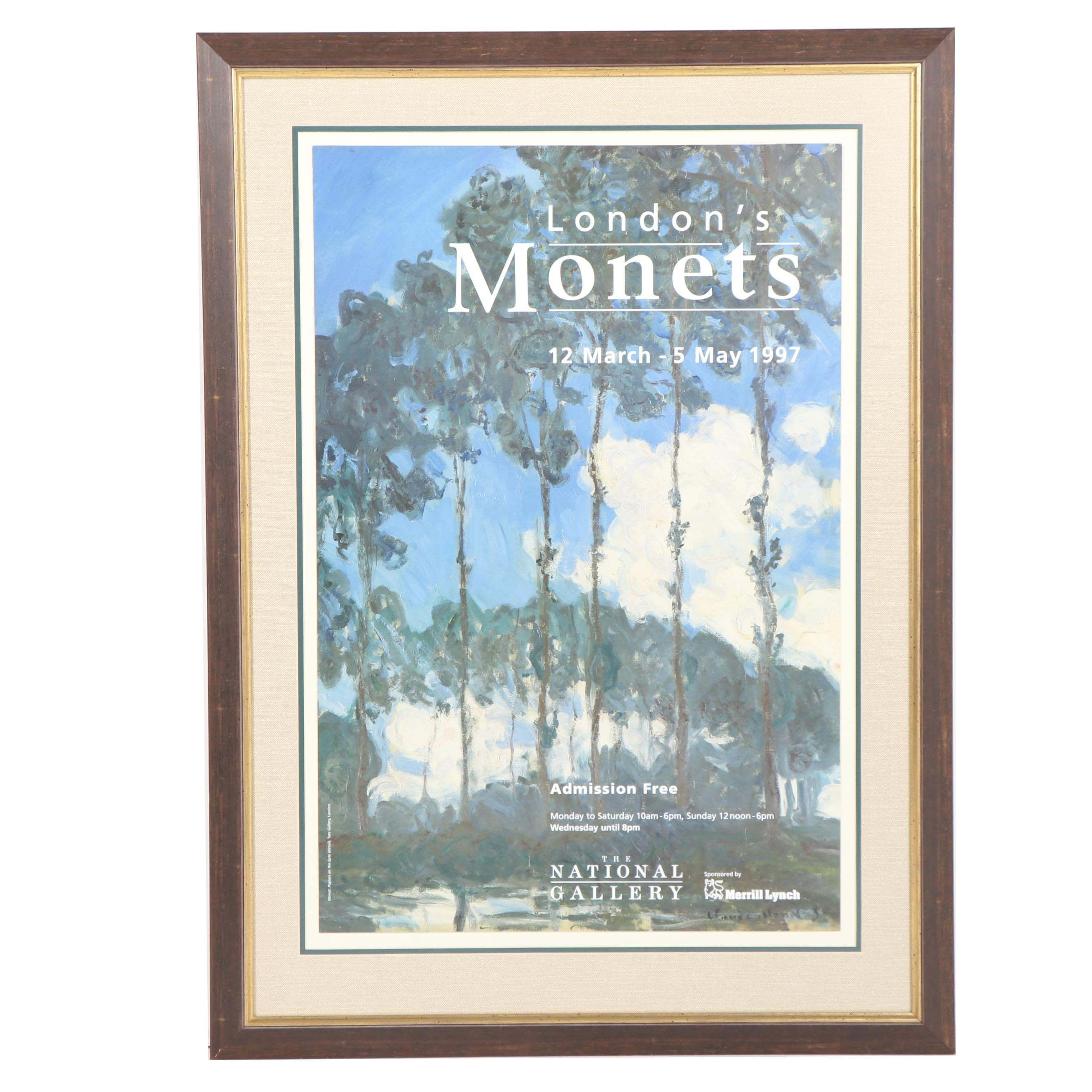 "Exhibition Poster after Claude Monet's ""Poplars on the Epte"" c. 1997"