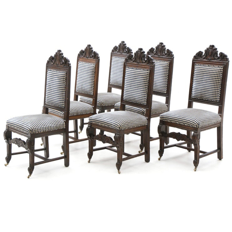 Renaissance Revival Wood Dining Chairs, 19th Century