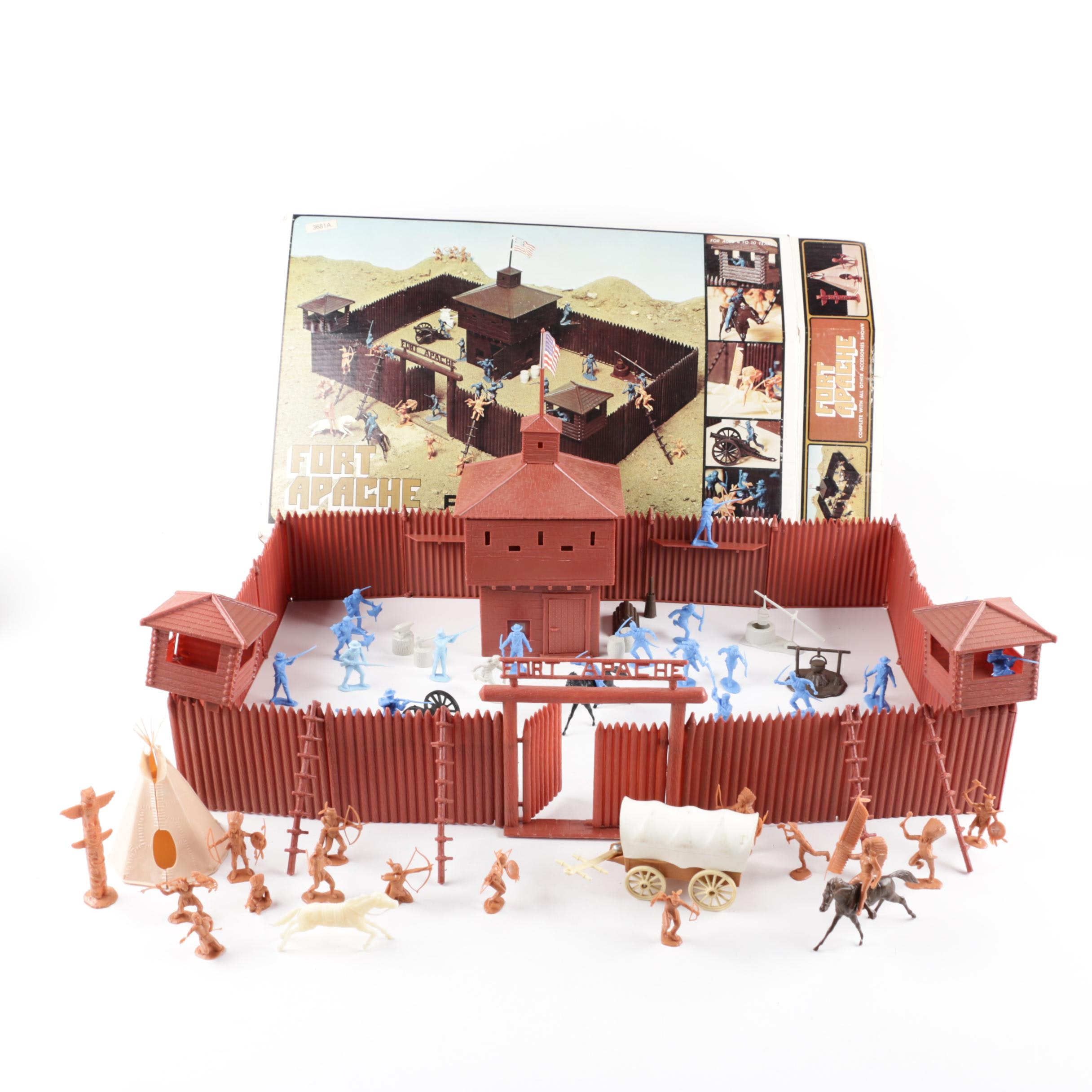 """Marx Toys """"Fort Apache"""" Playset, 1973"""