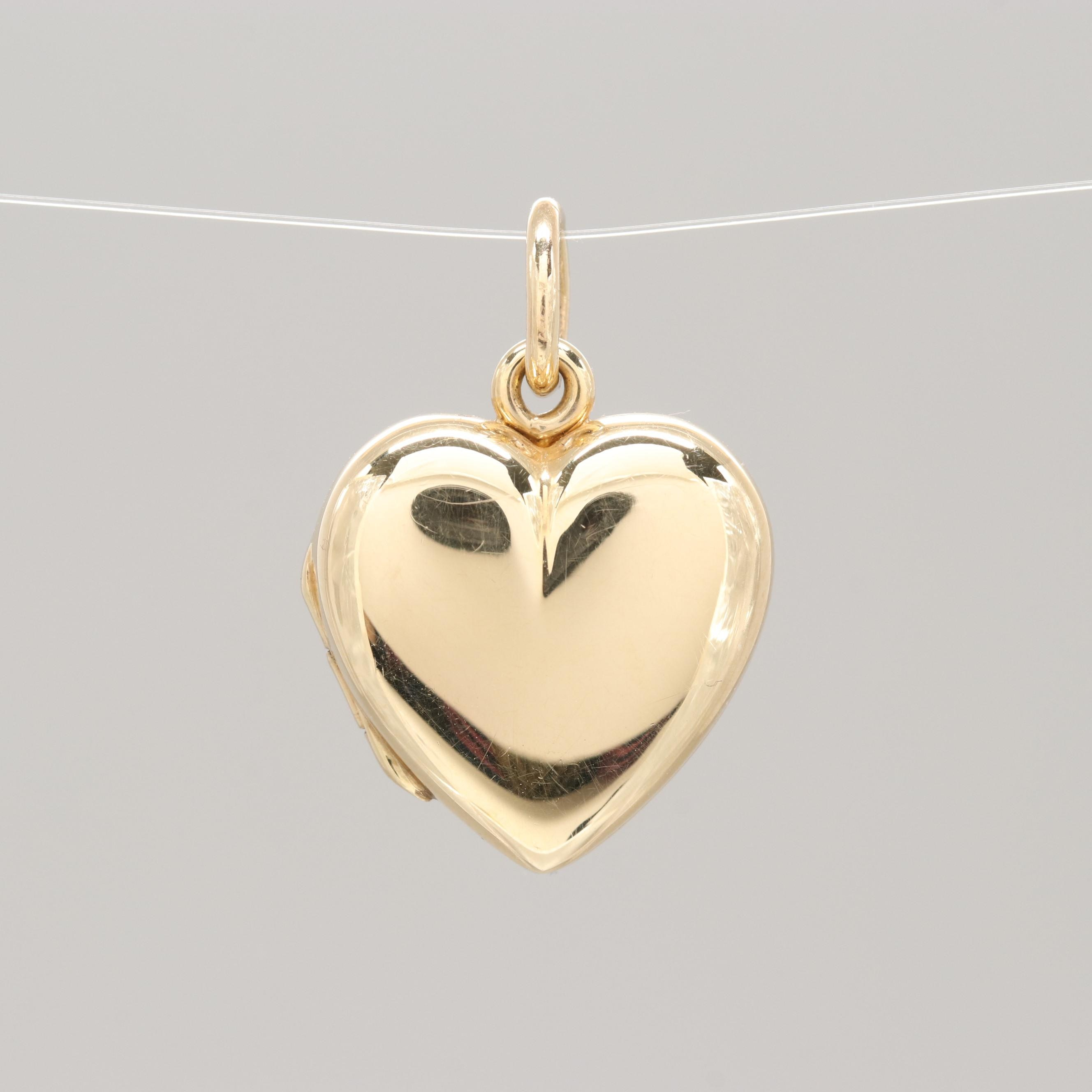 Tiffany & Co. 14K Yellow Gold Heart Locket