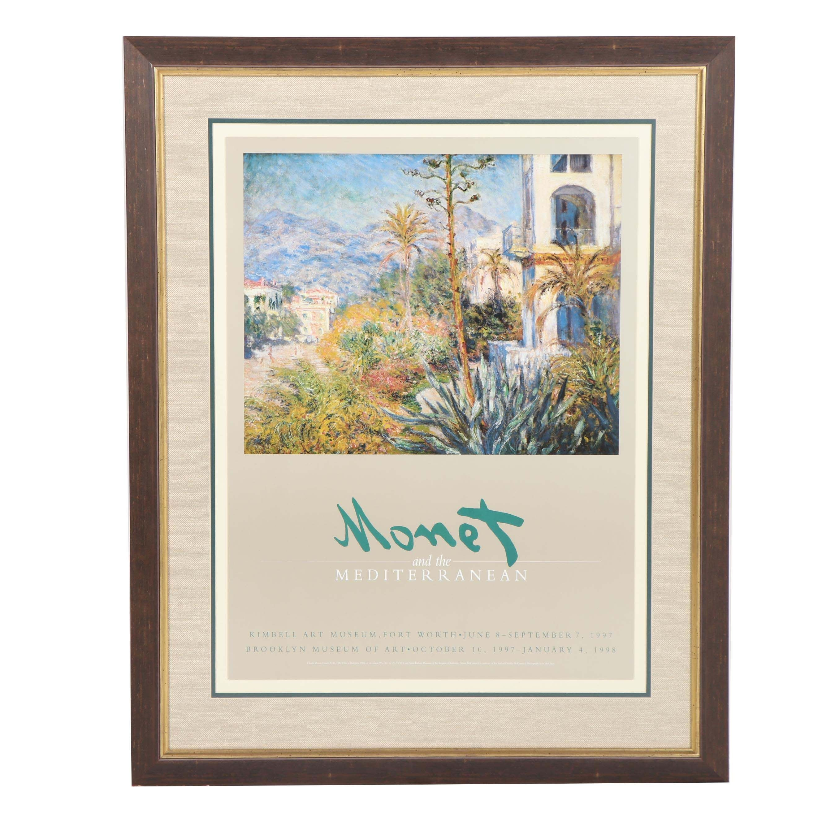 "Claude Monet ""Monet and the Mediterranean"" Art Gallery Exhibition Poster"