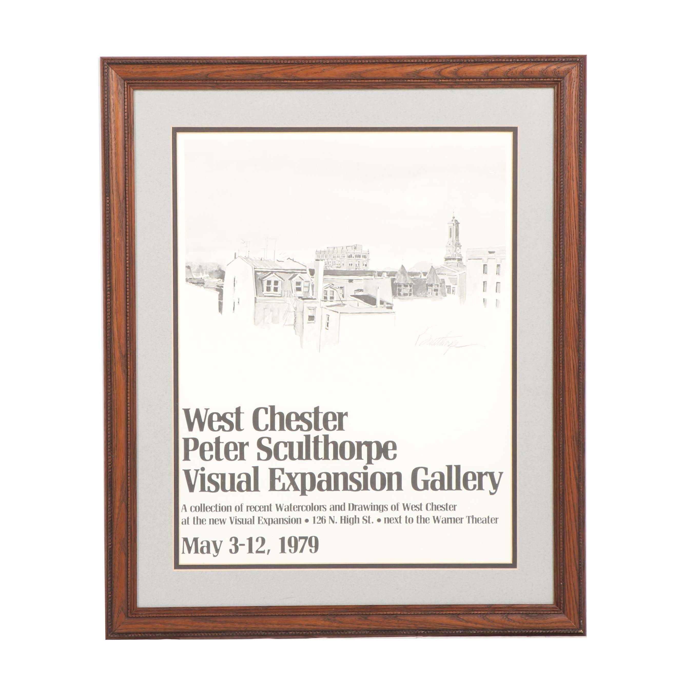 "Peter Sculthrope ""Visual Expansion Gallery"" Exhibition Poster"
