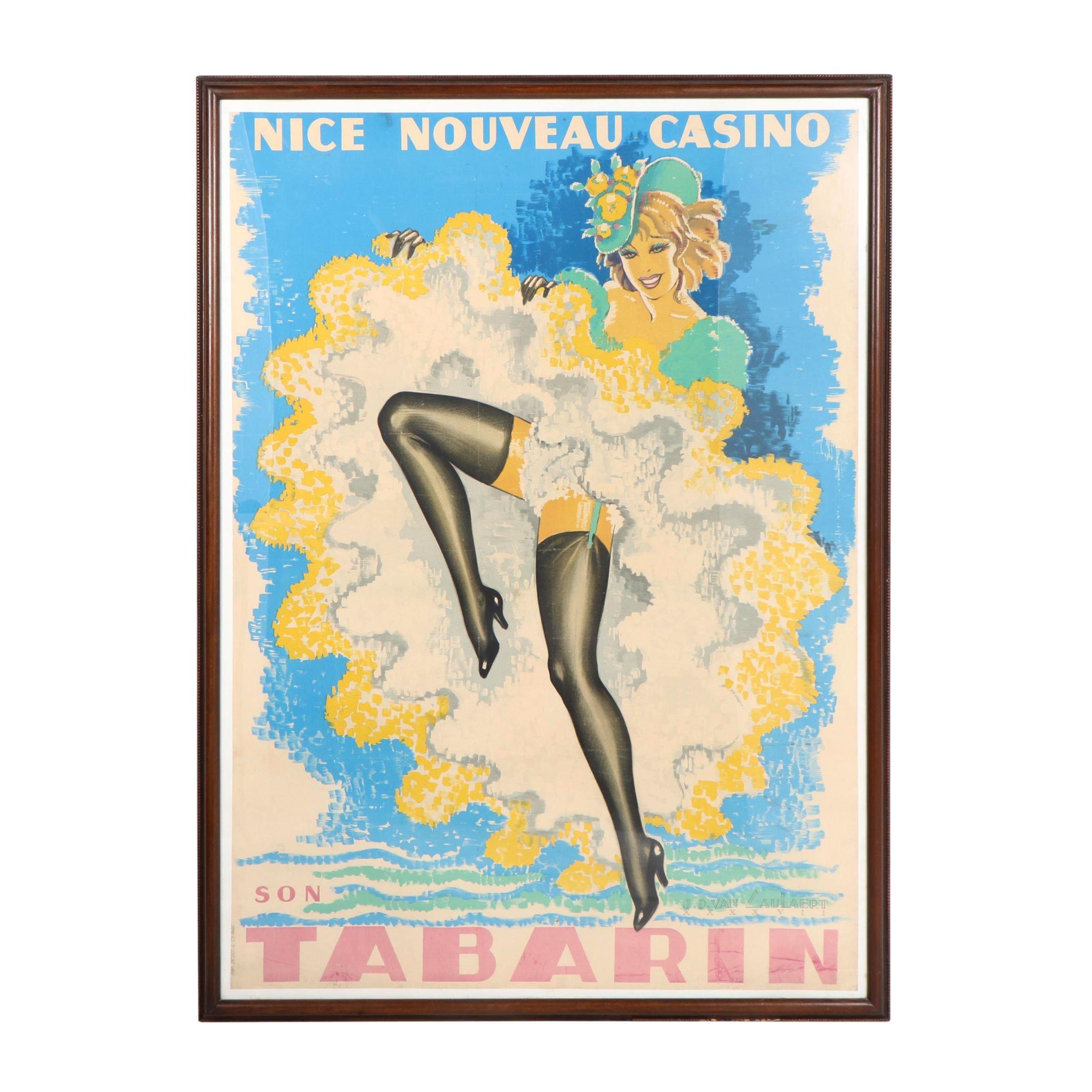 "Jean-Dominique Van Caulaert, ""Nice Nouveau Casino Son Tabarin,"" Poster"