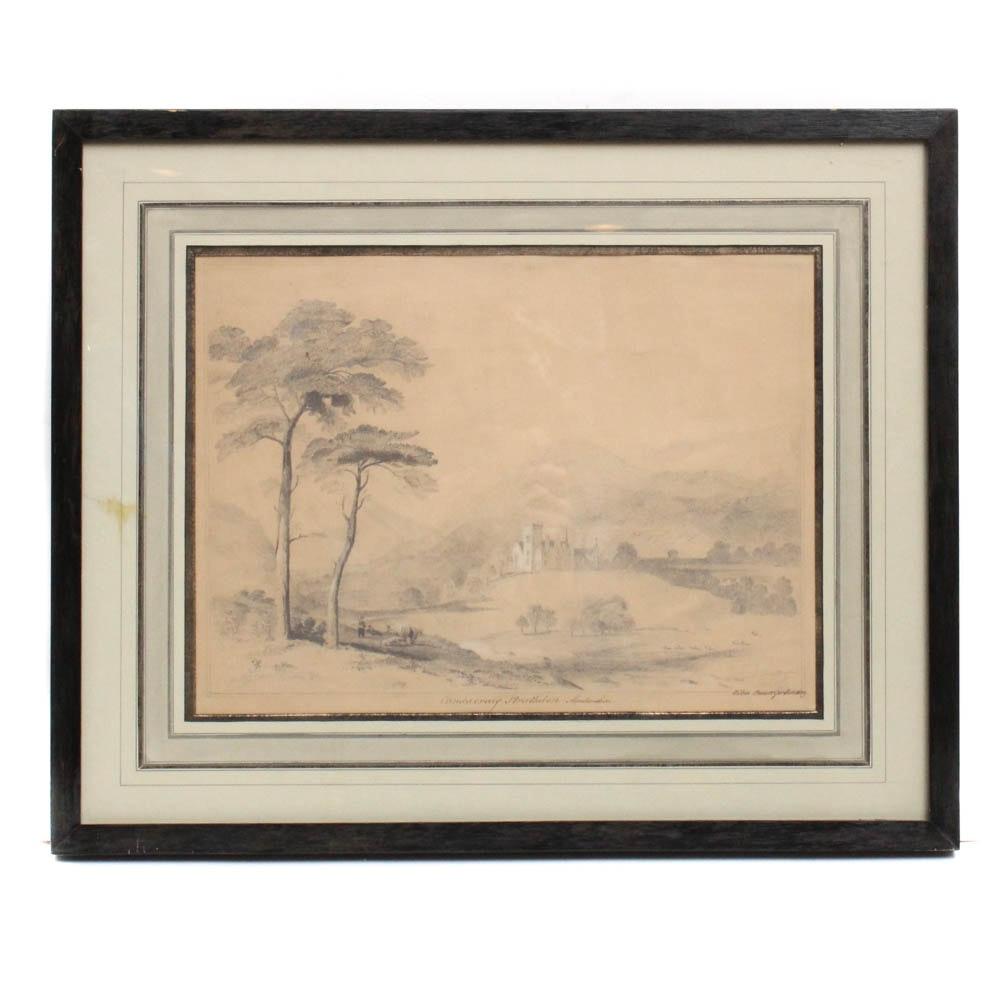 "Lébeé Stewart Gordon Drawing ""Candacraig Strathdon - Aberdeenshire"""