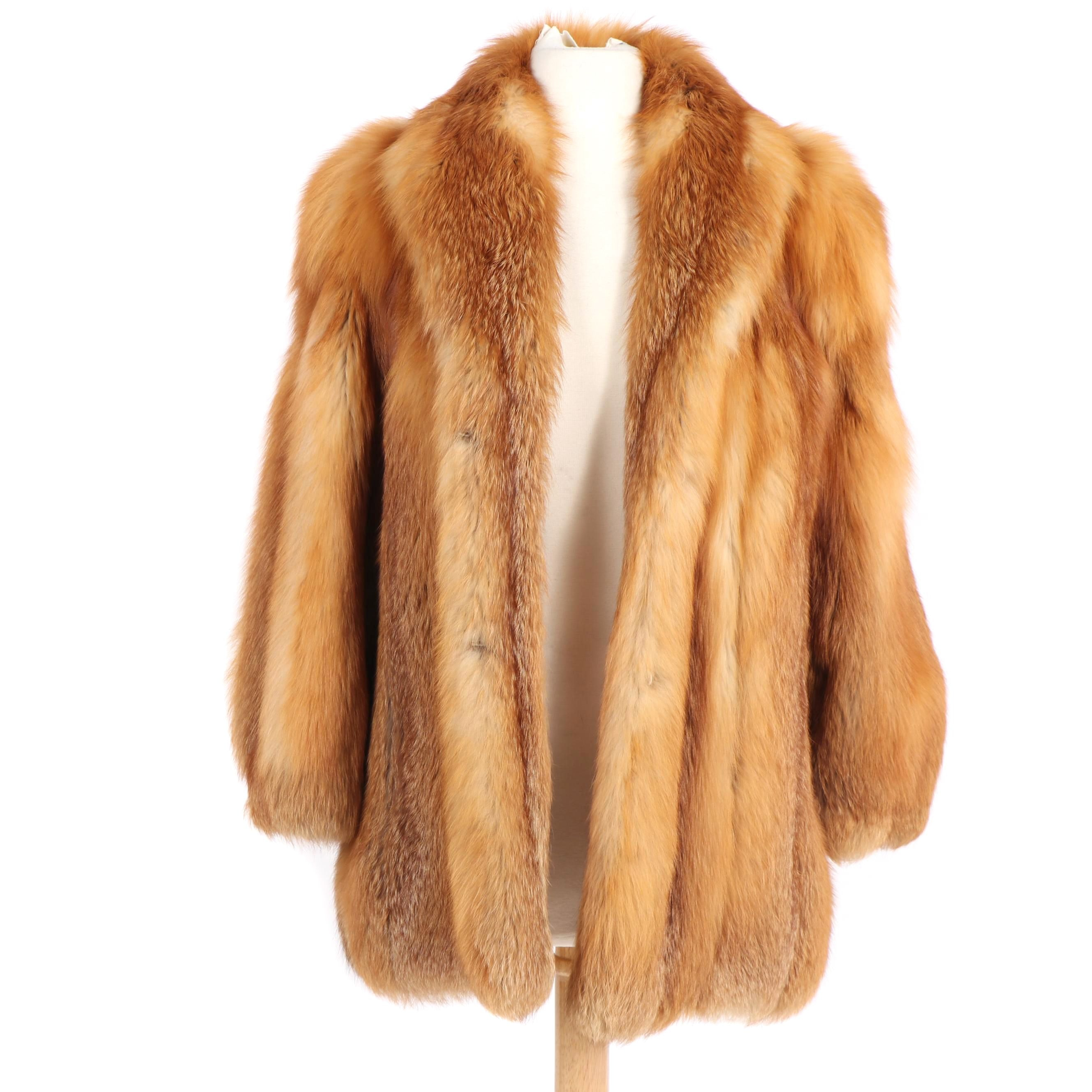 Red Fox Fur Coat