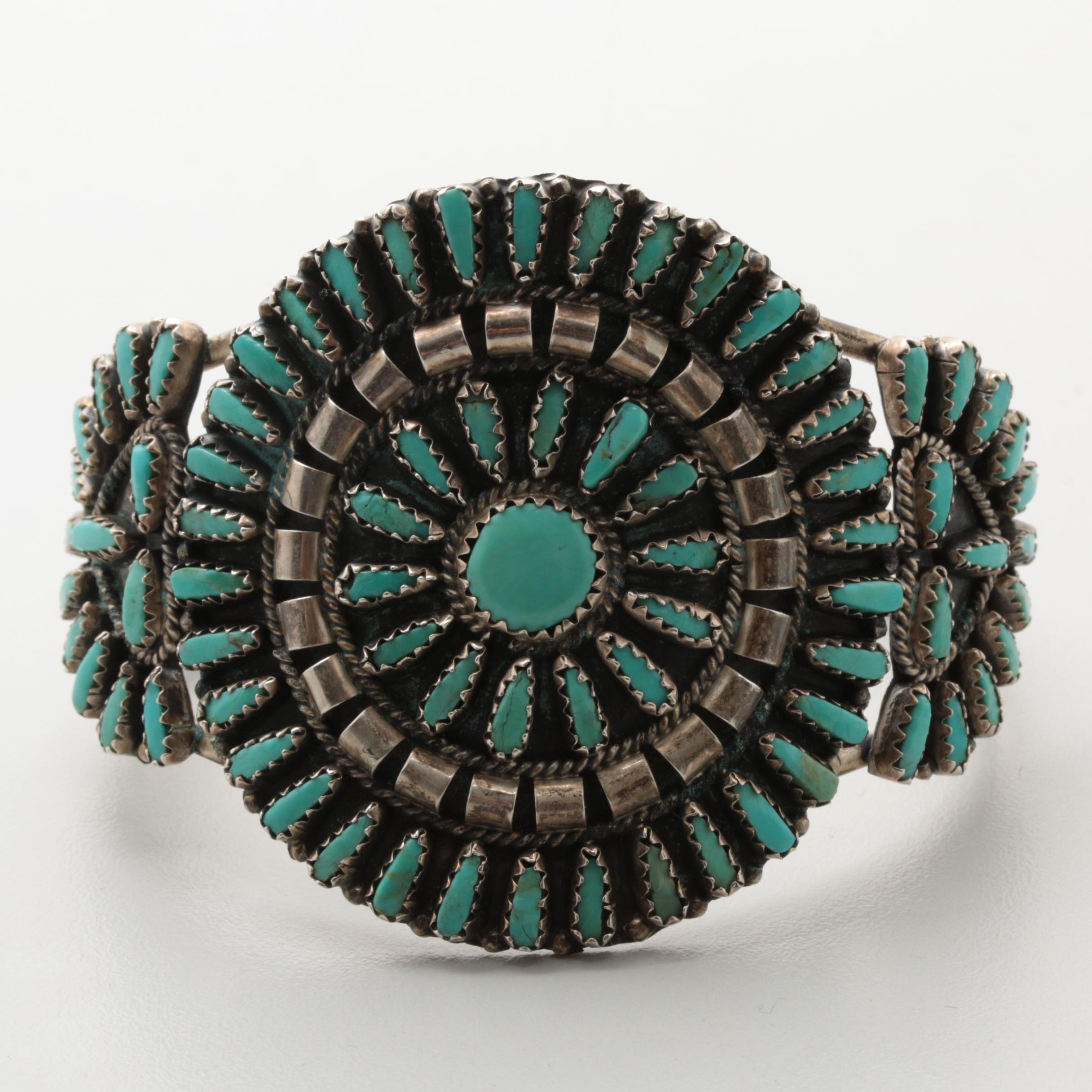 Violet Begay Navajo Diné Sterling Silver Turquoise Bracelet