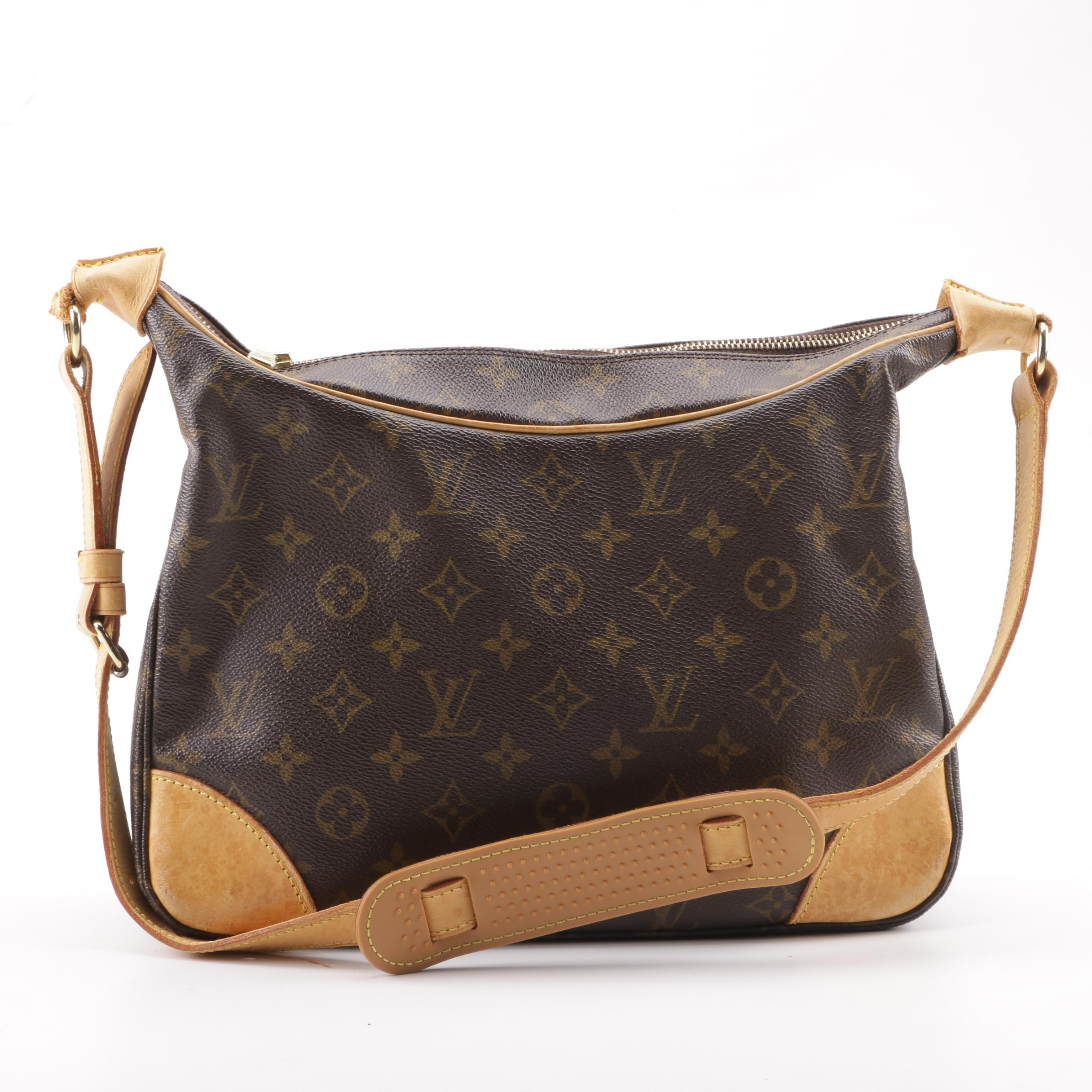 2000 Louis Vuitton Paris Monogram Canvas Boulogne 30 Shoulder Bag