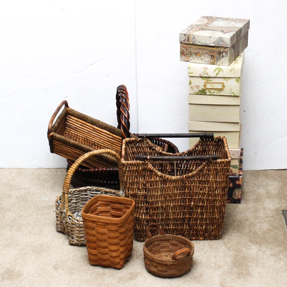 Decorative Baskets and Boxes Collection